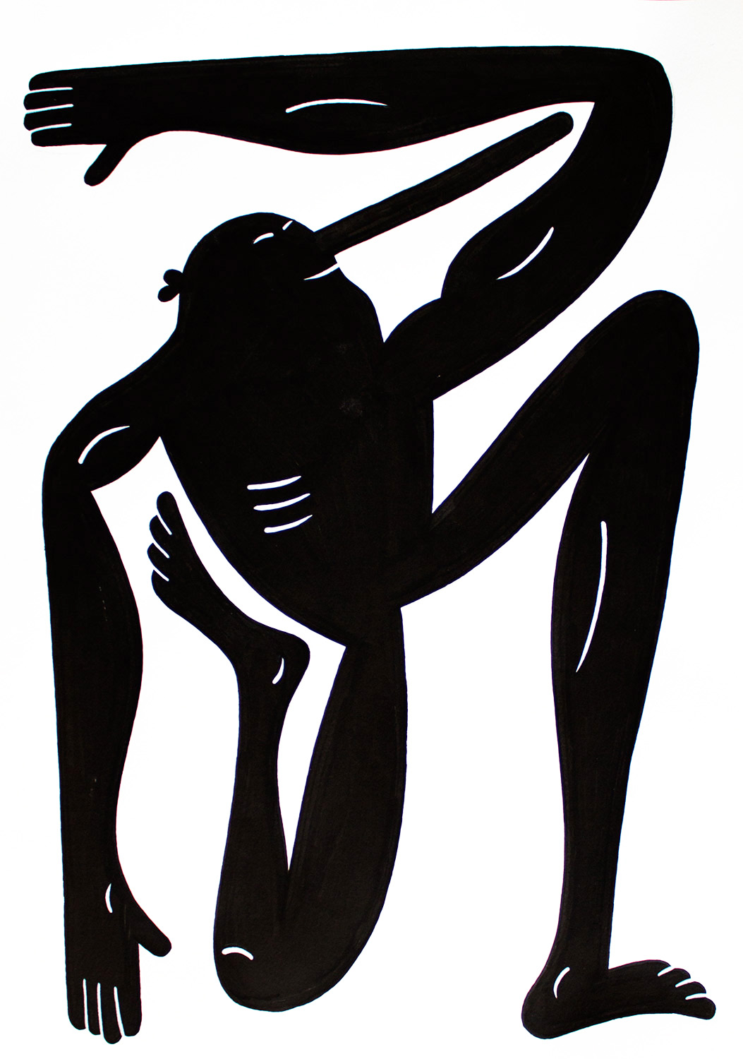 drawings, figurative, monochrome, portraiture, bodies, humor, black, white, ink, paper, abstract-forms, amusing, black-and-white, Buy original high quality art. Paintings, drawings, limited edition prints & posters by talented artists.