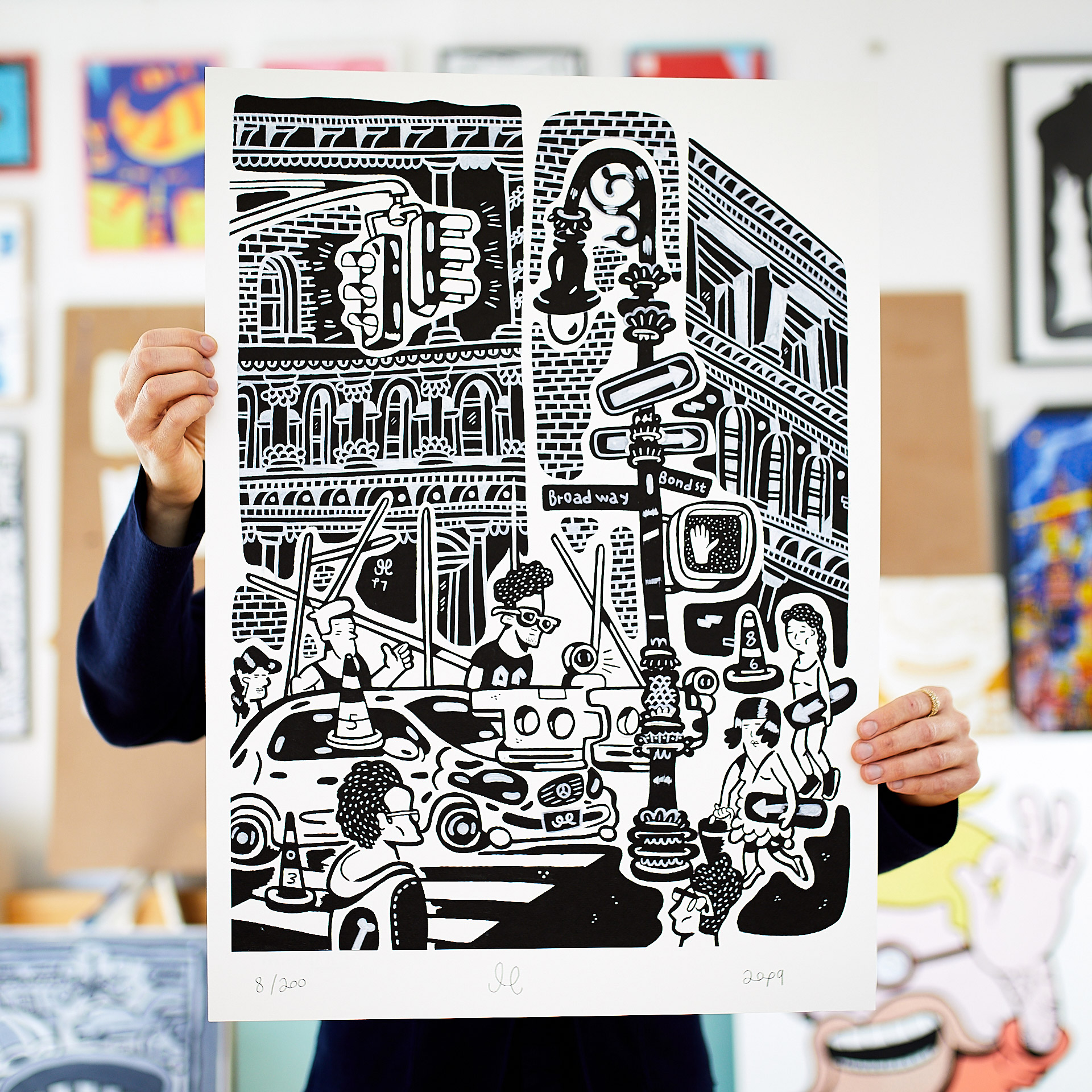 posters, giclee, family-friendly, figurative, graphical, illustrative, pop, architecture, everyday life, humor, patterns, people, black, grey, white, ink, paper, amusing, architectural, black-and-white, copenhagen, danish, decorative, interior, interior-design, modern, modern-art, nordic, pop-art, posters, scandinavien, street-art, Buy original high quality art. Paintings, drawings, limited edition prints & posters by talented artists.