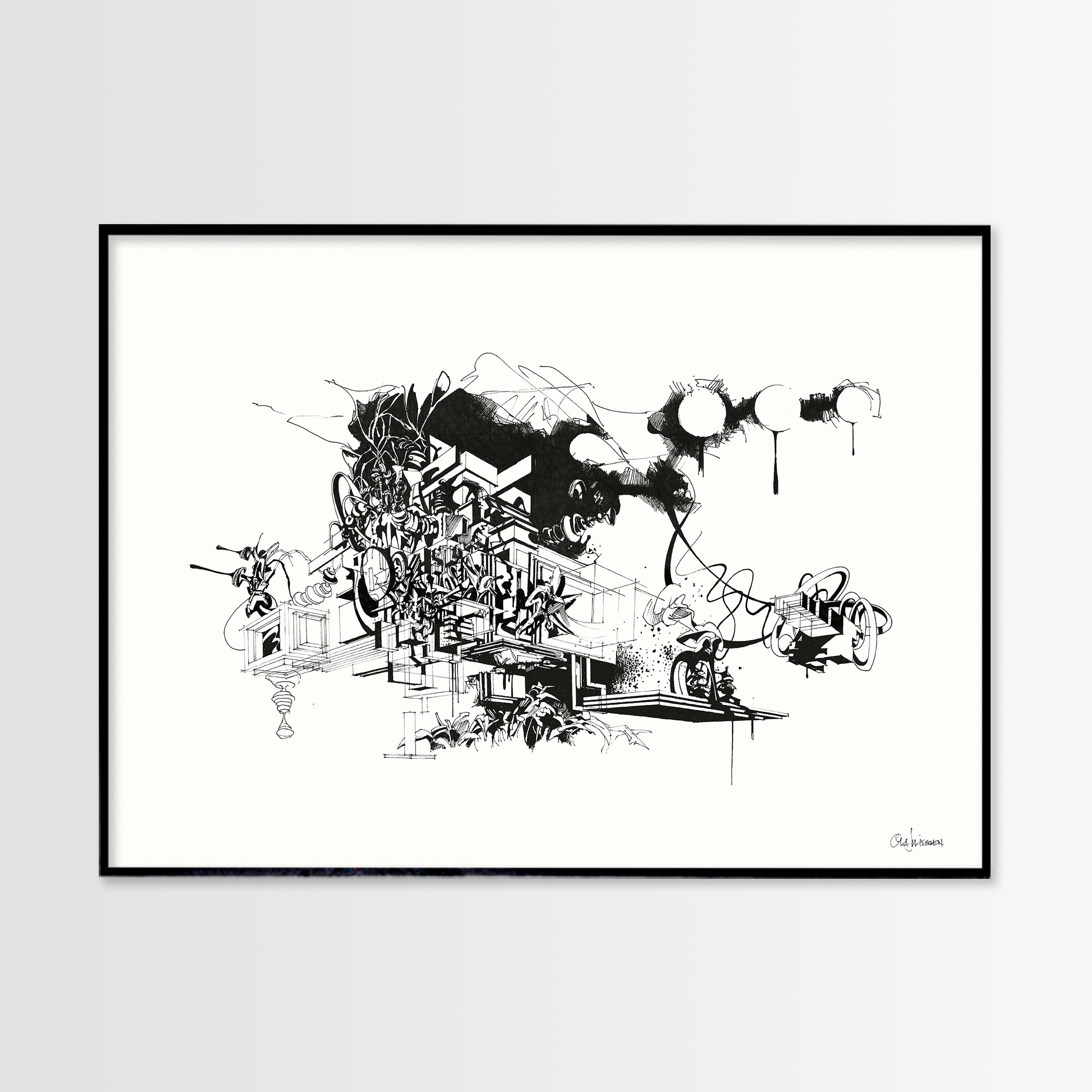 posters, giclee, aesthetic, geometric, graphical, monochrome, architecture, botany, nature, patterns, black, white, ink, paper, abstract-forms, architectural, black-and-white, buildings, contemporary-art, danish, decorative, design, interior, interior-design, modern, modern-art, nordic, plants, scandinavien, scenery, Buy original high quality art. Paintings, drawings, limited edition prints & posters by talented artists.