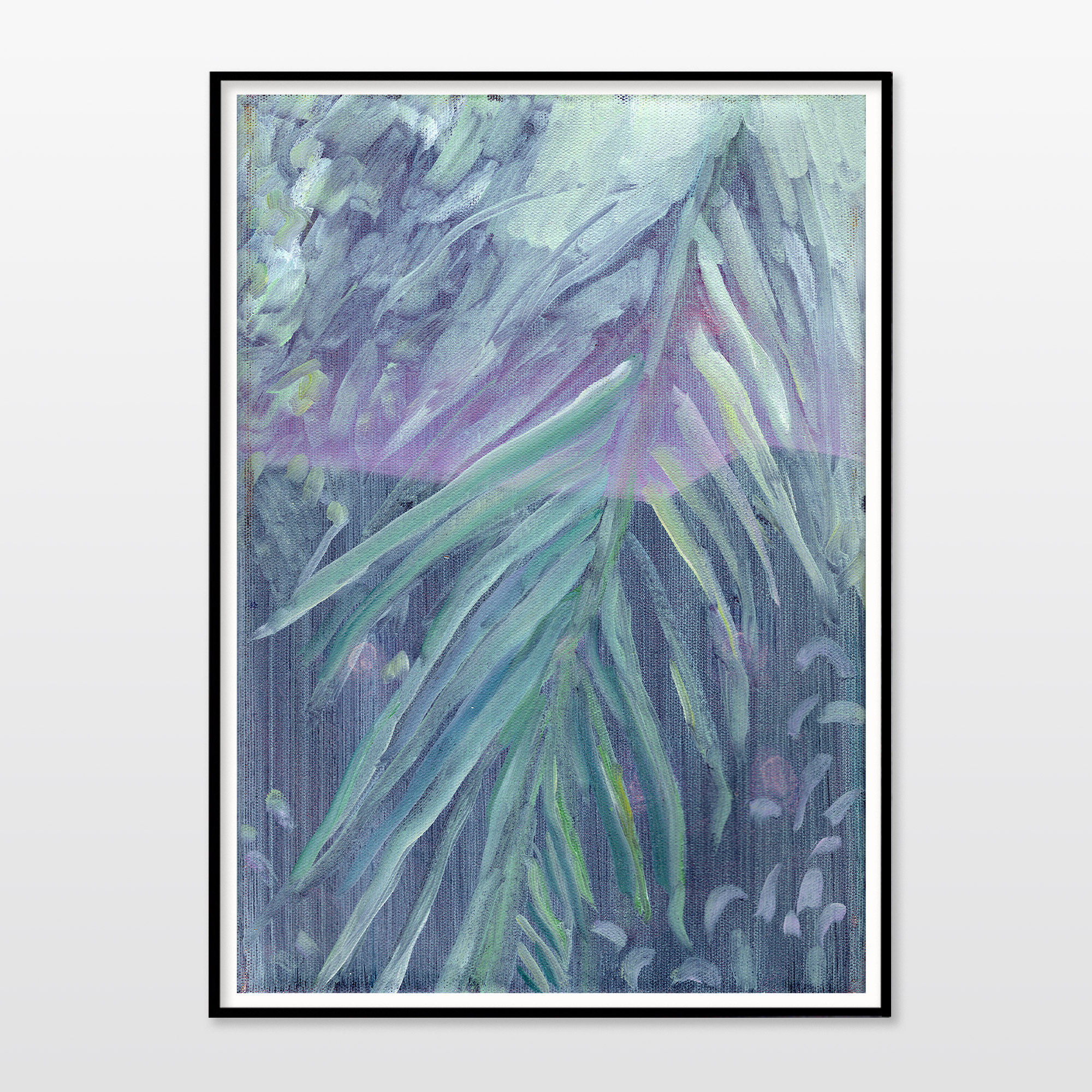 posters-prints, giclee-print, colorful, figurative, graphical, illustrative, botany, nature, blue, green, purple, turquoise, ink, contemporary-art, danish, decorative, design, flowers, forest, interior, interior-design, modern, modern-art, nordic, plants, scandinavien, Buy original high quality art. Paintings, drawings, limited edition prints & posters by talented artists.