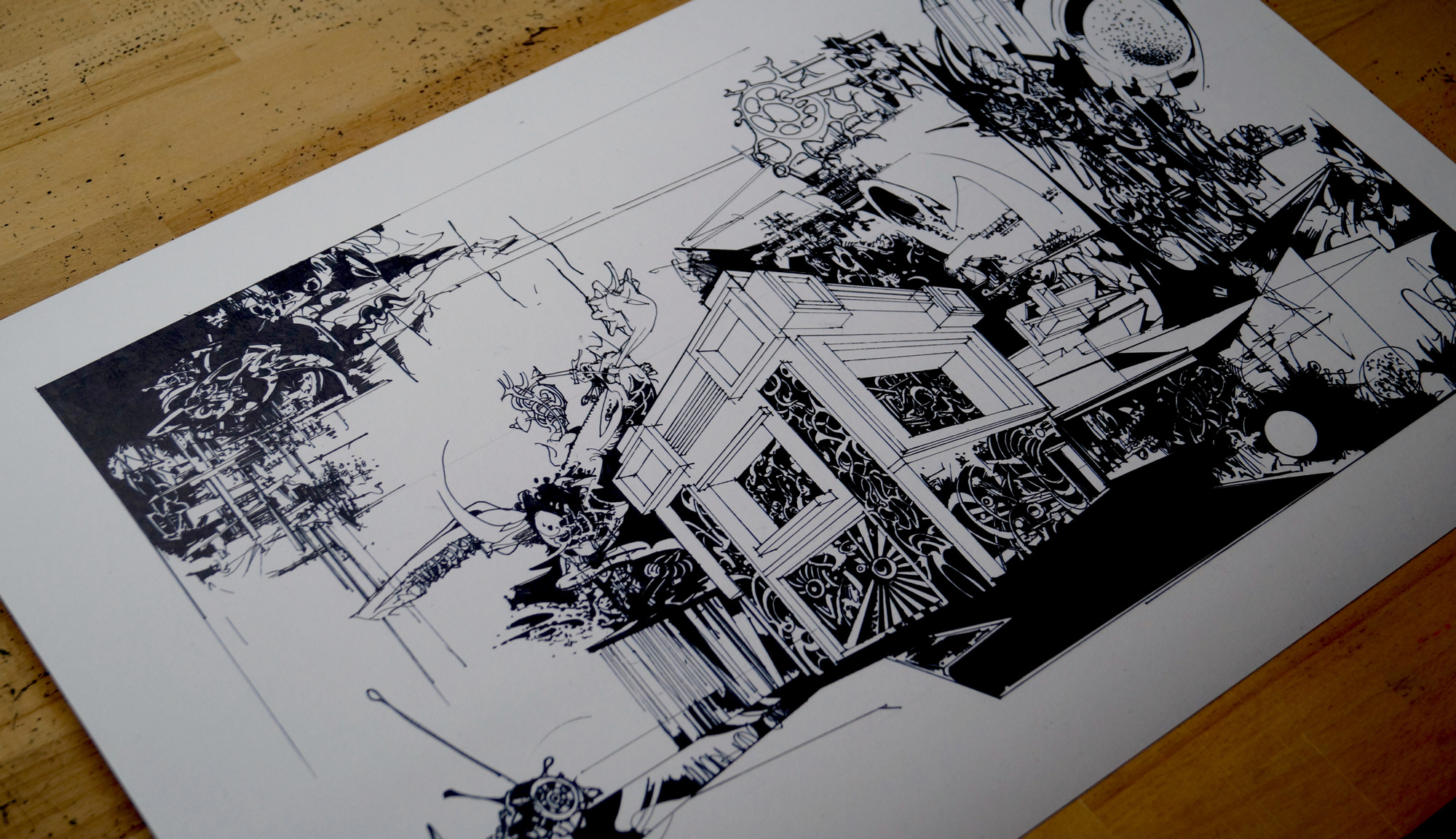 posters-prints, giclee-print, abstract, expressive, geometric, landscape, monochrome, surrealistic, architecture, botany, nature, black, white, ink, paper, abstract-forms, architectural, black-and-white, buildings, interior, interior-design, modern, modern-art, scandinavien, Buy original high quality art. Paintings, drawings, limited edition prints & posters by talented artists.