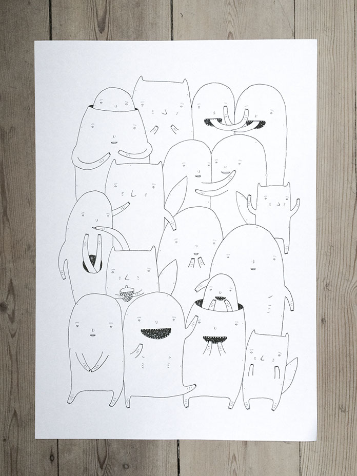 expressive art illustrations and drawings, talented Danish illustrator, cartoonist