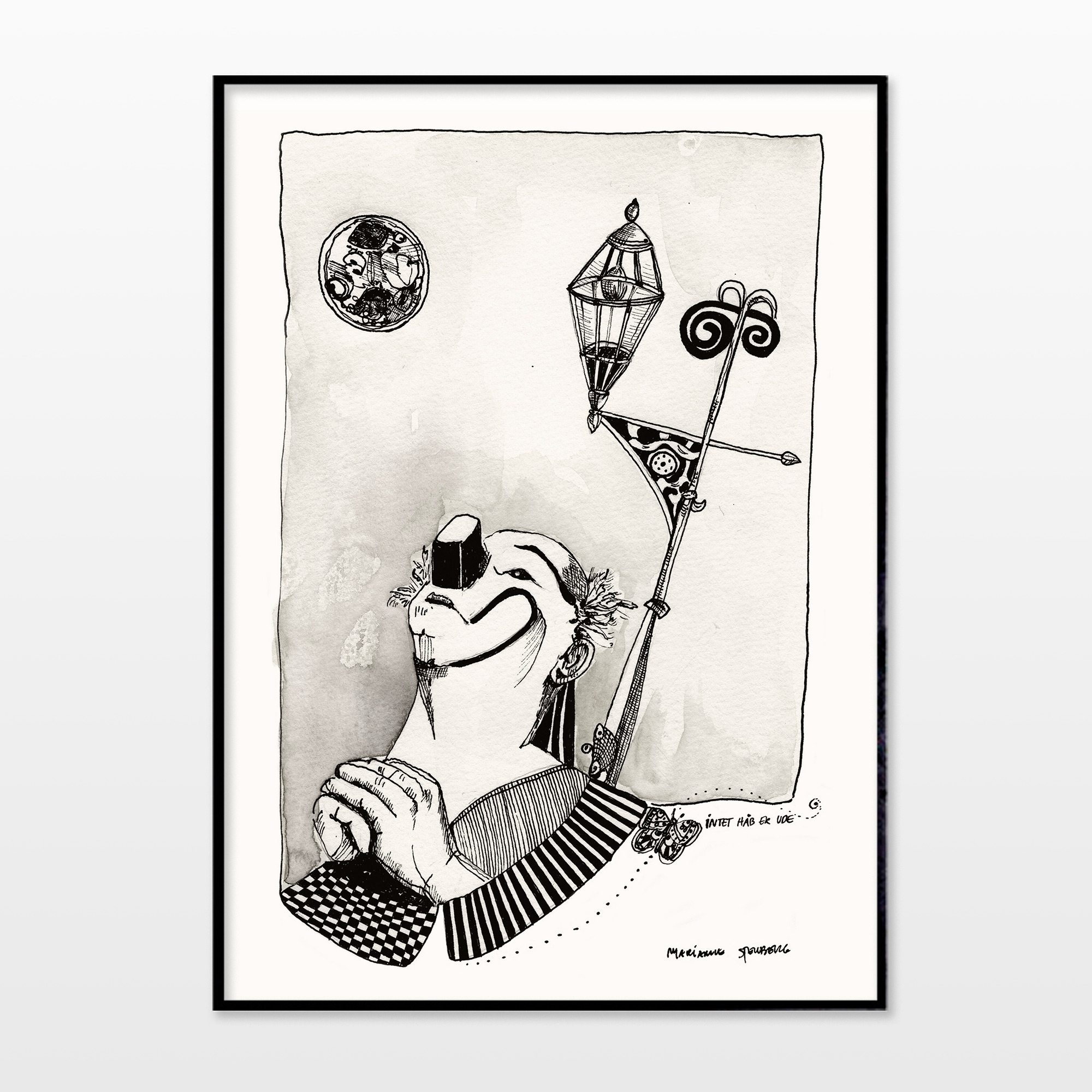 drawings, aesthetic, expressive, figurative, illustrative, monochrome, moods, people, black, grey, white, ink, paper, calligraphy, contemporary-art, danish, decorative, design, interior, interior-design, modern, modern-art, nordic, scandinavien, Buy original high quality art. Paintings, drawings, limited edition prints & posters by talented artists.