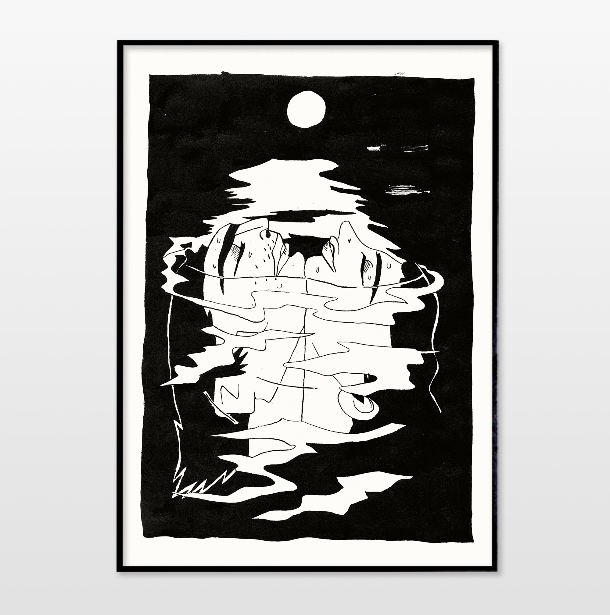 posters-prints, giclee-print, expressive, figurative, illustrative, portraiture, bodies, nature, oceans, people, black, white, ink, paper, beautiful, black-and-white, contemporary-art, danish, decorative, design, faces, interior, interior-design, love, modern, modern-art, nordic, posters, scandinavien, water, Buy original high quality art. Paintings, drawings, limited edition prints & posters by talented artists.
