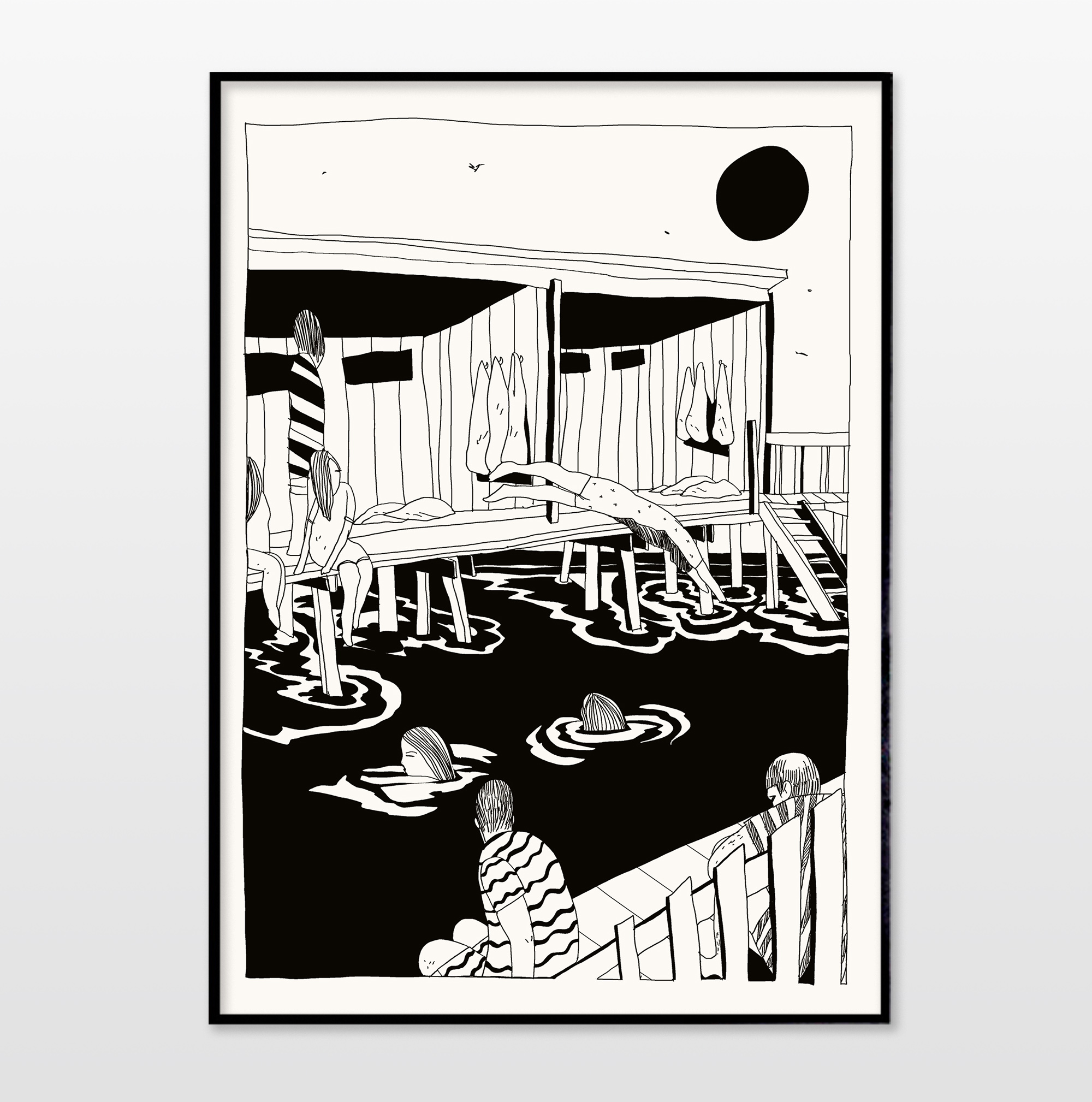 posters, giclee, graphical, illustrative, monochrome, portraiture, architecture, bodies, nature, seasons, black, white, ink, paper, beach, contemporary-art, copenhagen, danish, decorative, design, interior, interior-design, love, modern, modern-art, nordic, posters, scandinavien, water, Buy original high quality art. Paintings, drawings, limited edition prints & posters by talented artists.