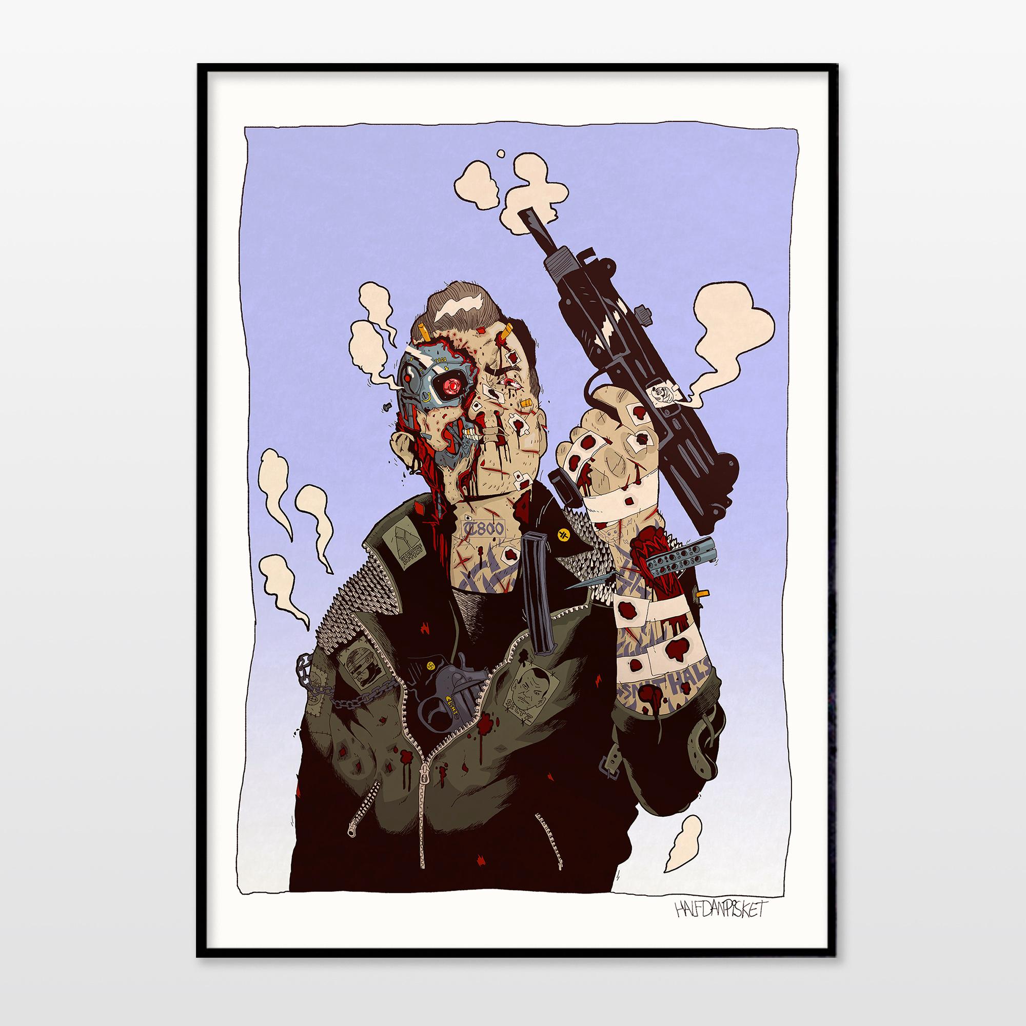 posters-prints, giclee-print, illustrative, portraiture, surrealistic, cartoons, people, science, beige, black, blue, ink, paper, amusing, contemporary-art, copenhagen, danish, decorative, interior, interior-design, men, modern, modern-art, nordic, posters, prints, scandinavien, Buy original high quality art. Paintings, drawings, limited edition prints & posters by talented artists.