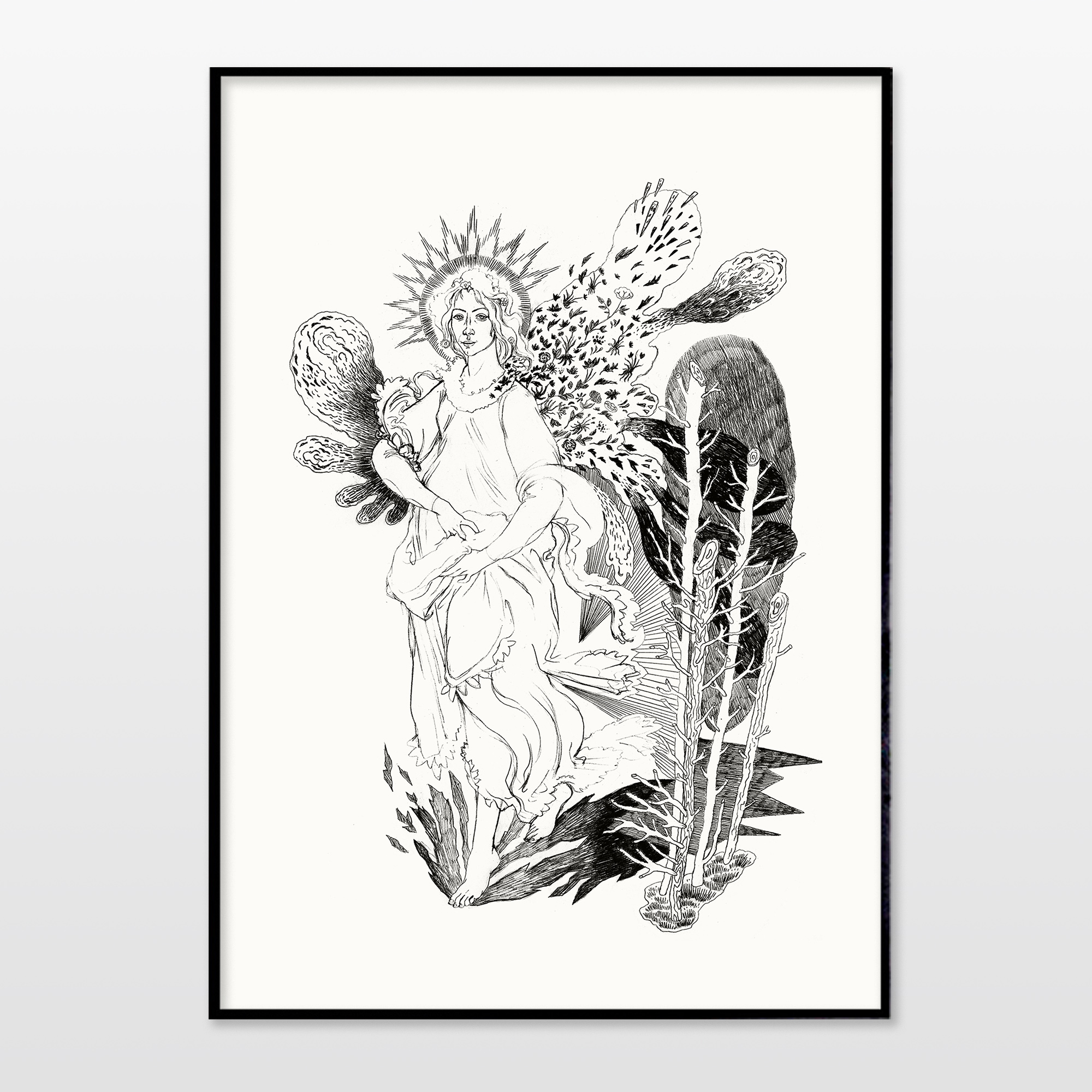 posters-prints, giclee-print, aesthetic, figurative, monochrome, bodies, botany, sexuality, black, white, ink, paper, beautiful, black-and-white, contemporary-art, danish, decorative, female, flowers, interior, interior-design, modern, modern-art, nordic, nude, plants, pretty, scandinavien, Buy original high quality art. Paintings, drawings, limited edition prints & posters by talented artists.