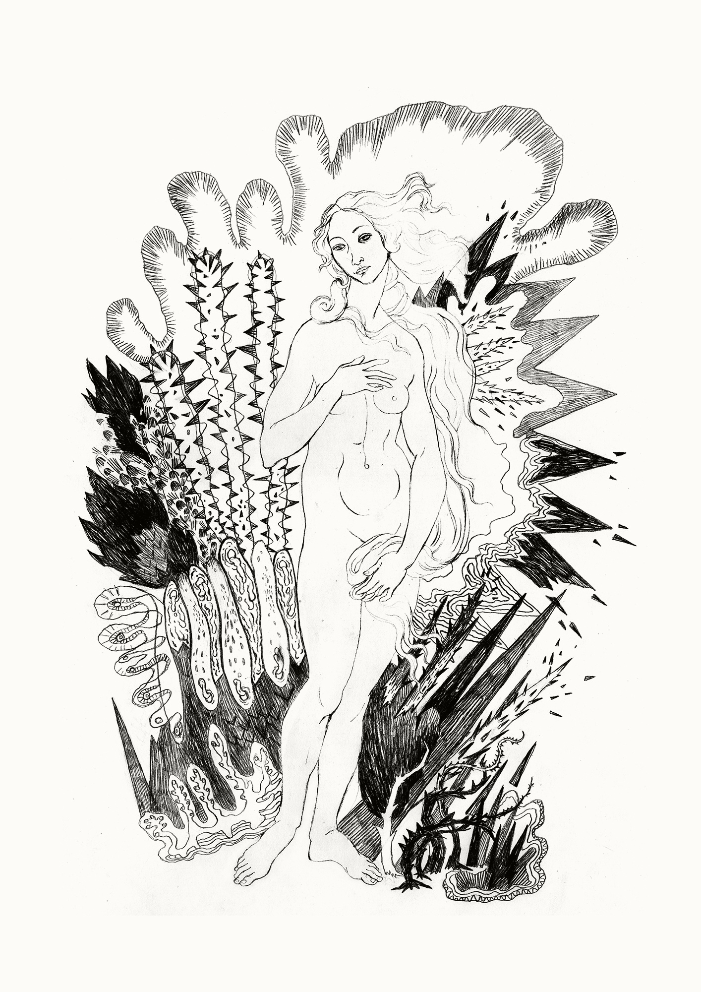 posters-prints, giclee-print, aesthetic, figurative, monochrome, portraiture, bodies, botany, sexuality, black, white, ink, paper, black-and-white, contemporary-art, danish, decorative, design, erotic, flowers, interior, interior-design, modern, modern-art, nordic, nude, scandinavien, sexual, Buy original high quality art. Paintings, drawings, limited edition prints & posters by talented artists.