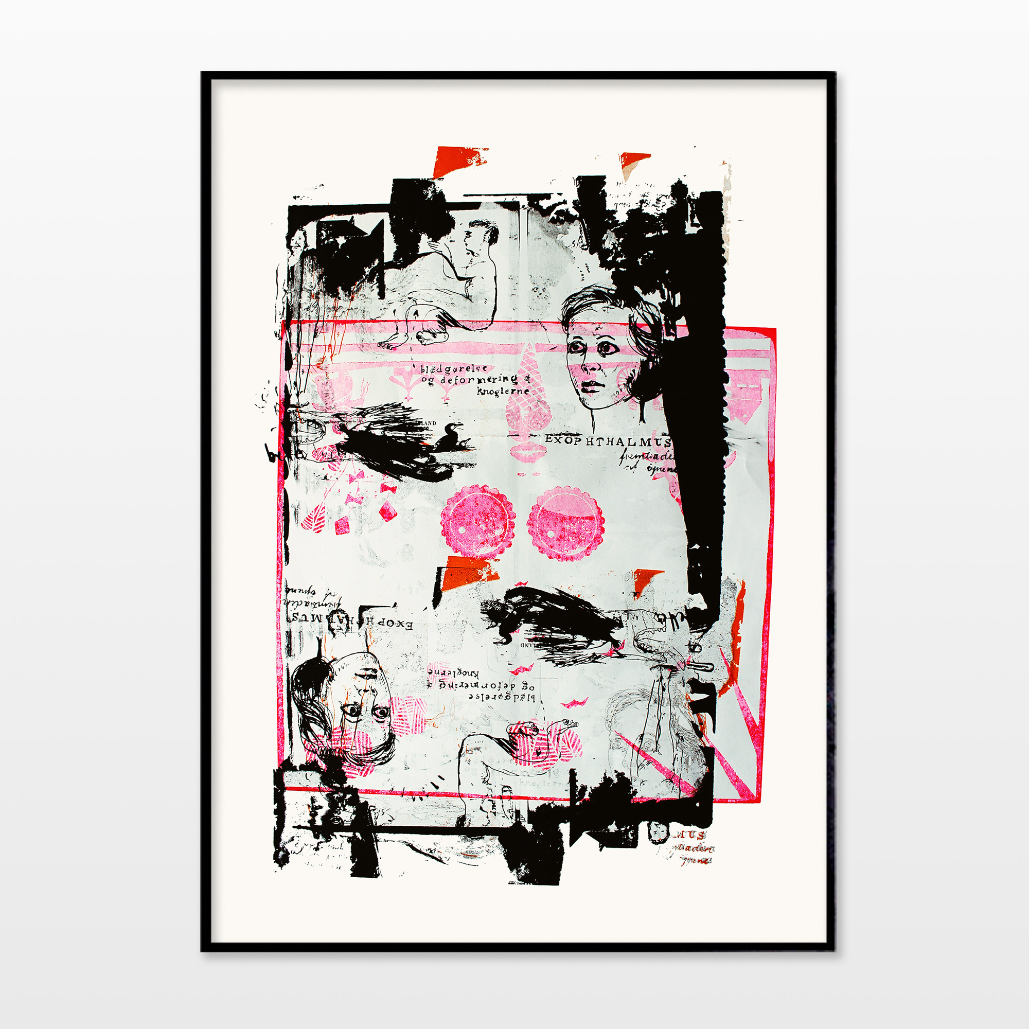 posters-prints, giclee-print, abstract, figurative, portraiture, bodies, people, pets, black, pink, white, ink, paper, beautiful, contemporary-art, copenhagen, danish, decorative, design, dogs, faces, interior, interior-design, modern, modern-art, nordic, women, Buy original high quality art. Paintings, drawings, limited edition prints & posters by talented artists.