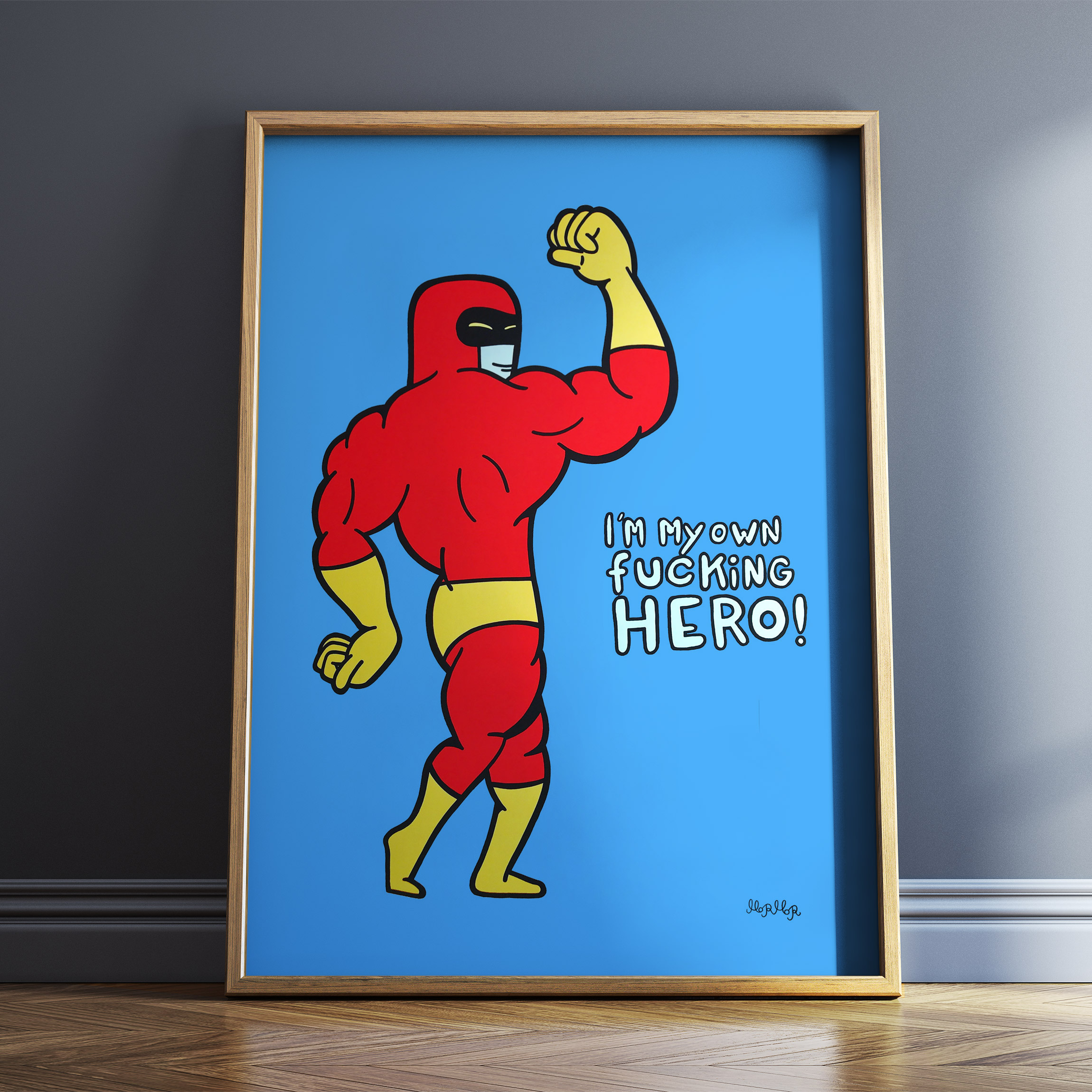 art-prints, giclee, colorful, family-friendly, graphical, pop, bodies, cartoons, blue, red, yellow, ink, paper, amusing, contemporary-art, copenhagen, danish, decorative, design, interior, interior-design, modern, modern-art, nordic, scandinavien, street-art, teenage, Buy original high quality art. Paintings, drawings, limited edition prints & posters by talented artists.