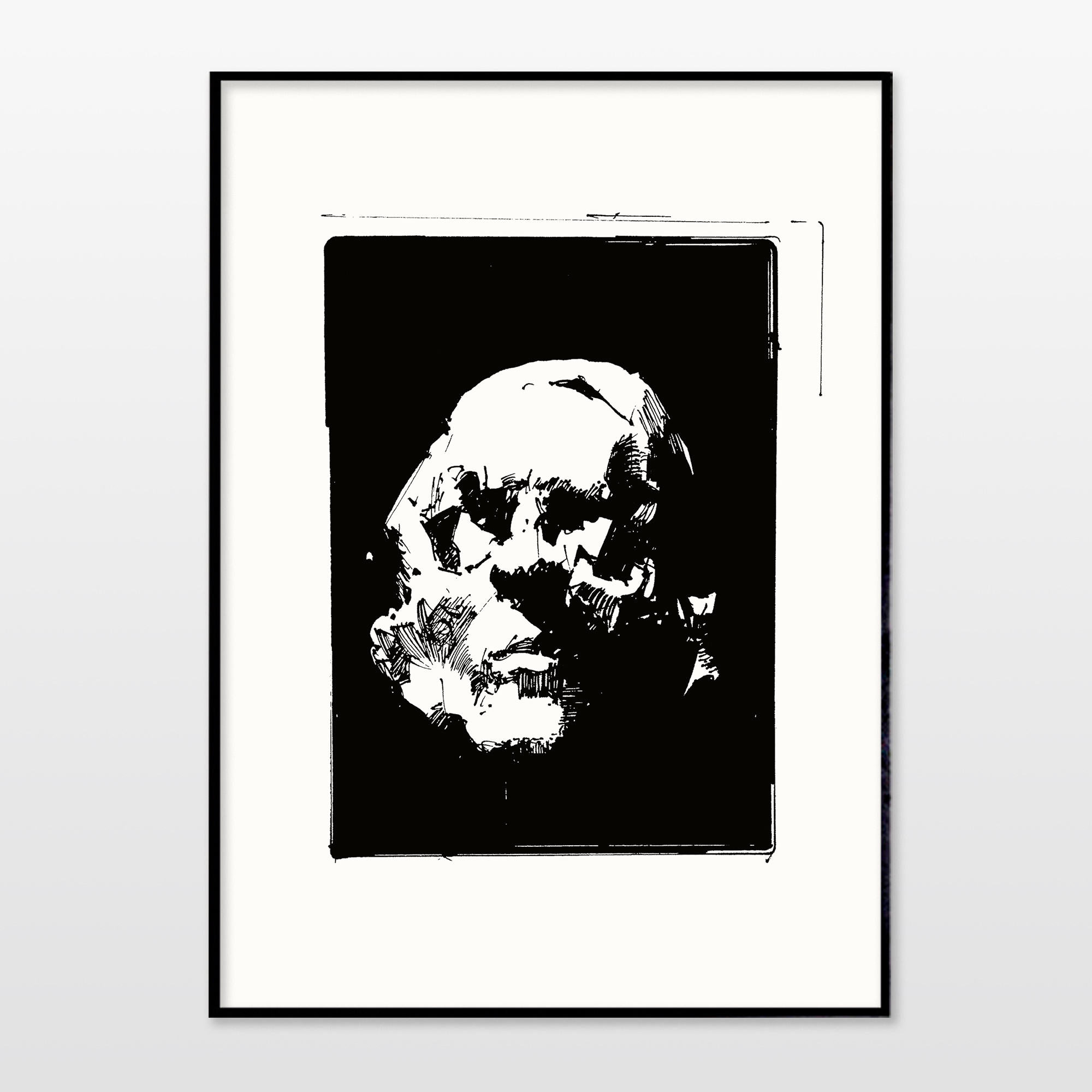 posters-prints, giclee-print, abstract, expressive, monochrome, portraiture, people, black, white, ink, paper, black-and-white, contemporary-art, danish, decorative, design, expressionism, faces, interior, interior-design, modern, modern-art, nordic, posters, prints, Buy original high quality art. Paintings, drawings, limited edition prints & posters by talented artists.