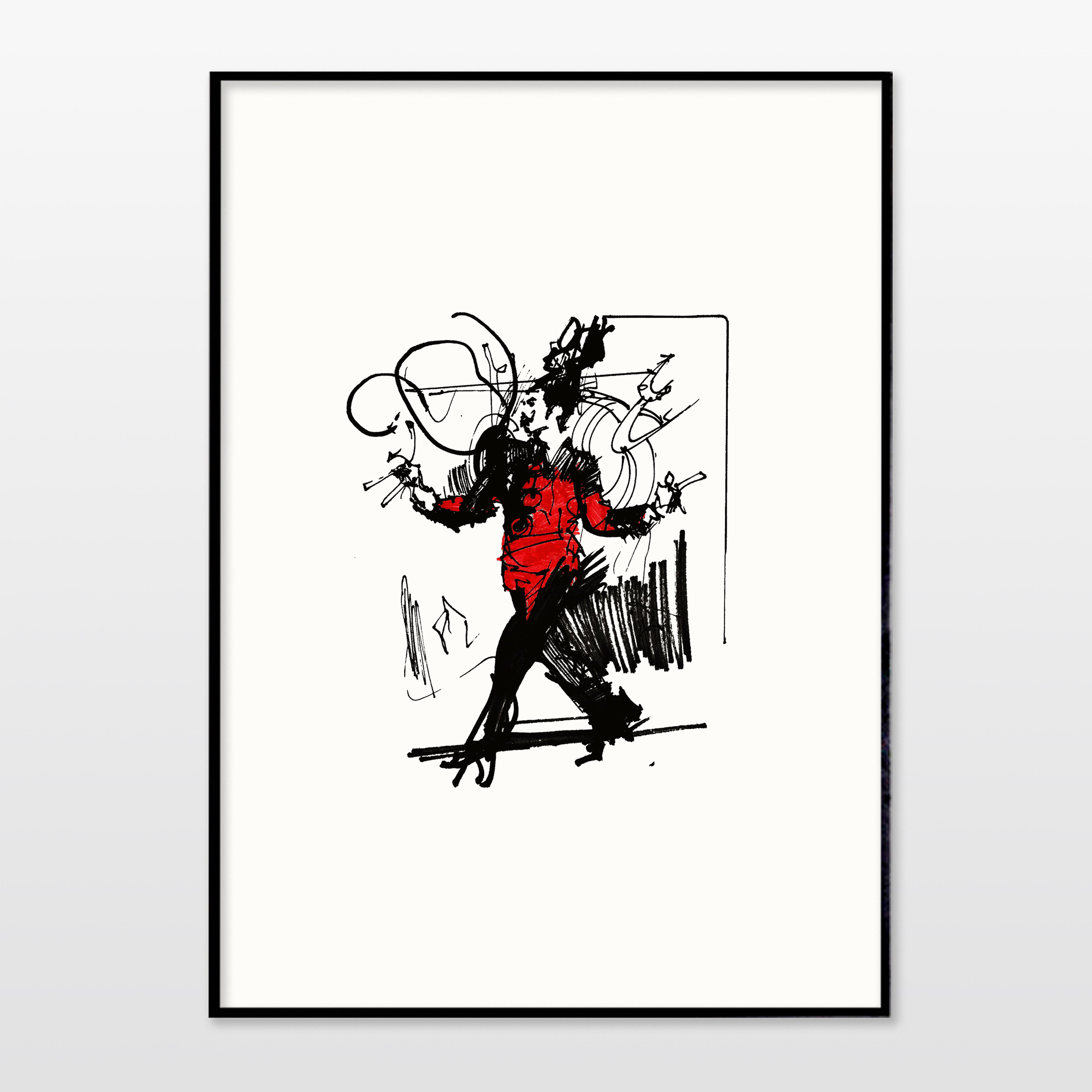 posters-prints, giclee-print, aesthetic, figurative, illustrative, portraiture, bodies, movement, people, black, red, white, ink, paper, contemporary-art, danish, decorative, design, interior, interior-design, men, modern, modern-art, nordic, posters, prints, scandinavien, Buy original high quality art. Paintings, drawings, limited edition prints & posters by talented artists.