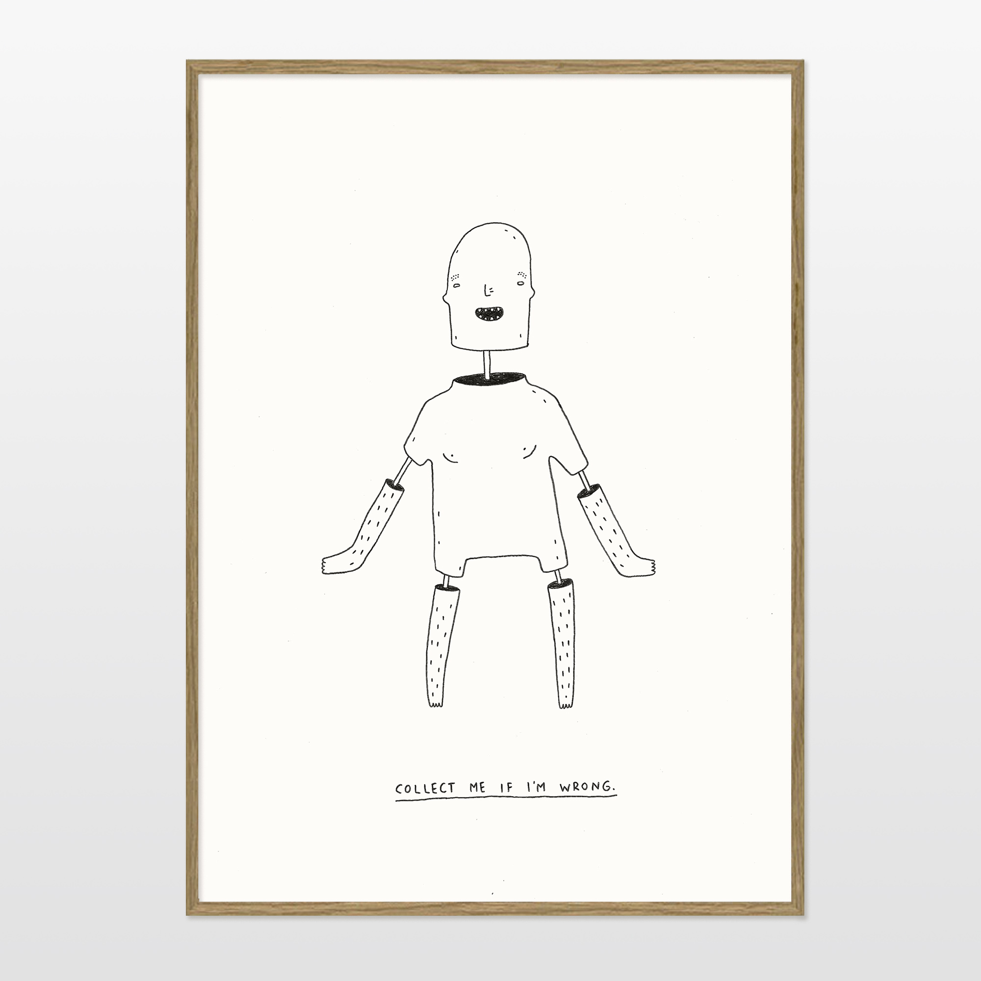 posters-prints, giclee-print, family-friendly, illustrative, minimalistic, humor, moods, people, black, white, ink, paper, amusing, cute, danish, decorative, design, interior, interior-design, modern, modern-art, nordic, posters, prints, scandinavien, Buy original high quality art. Paintings, drawings, limited edition prints & posters by talented artists.
