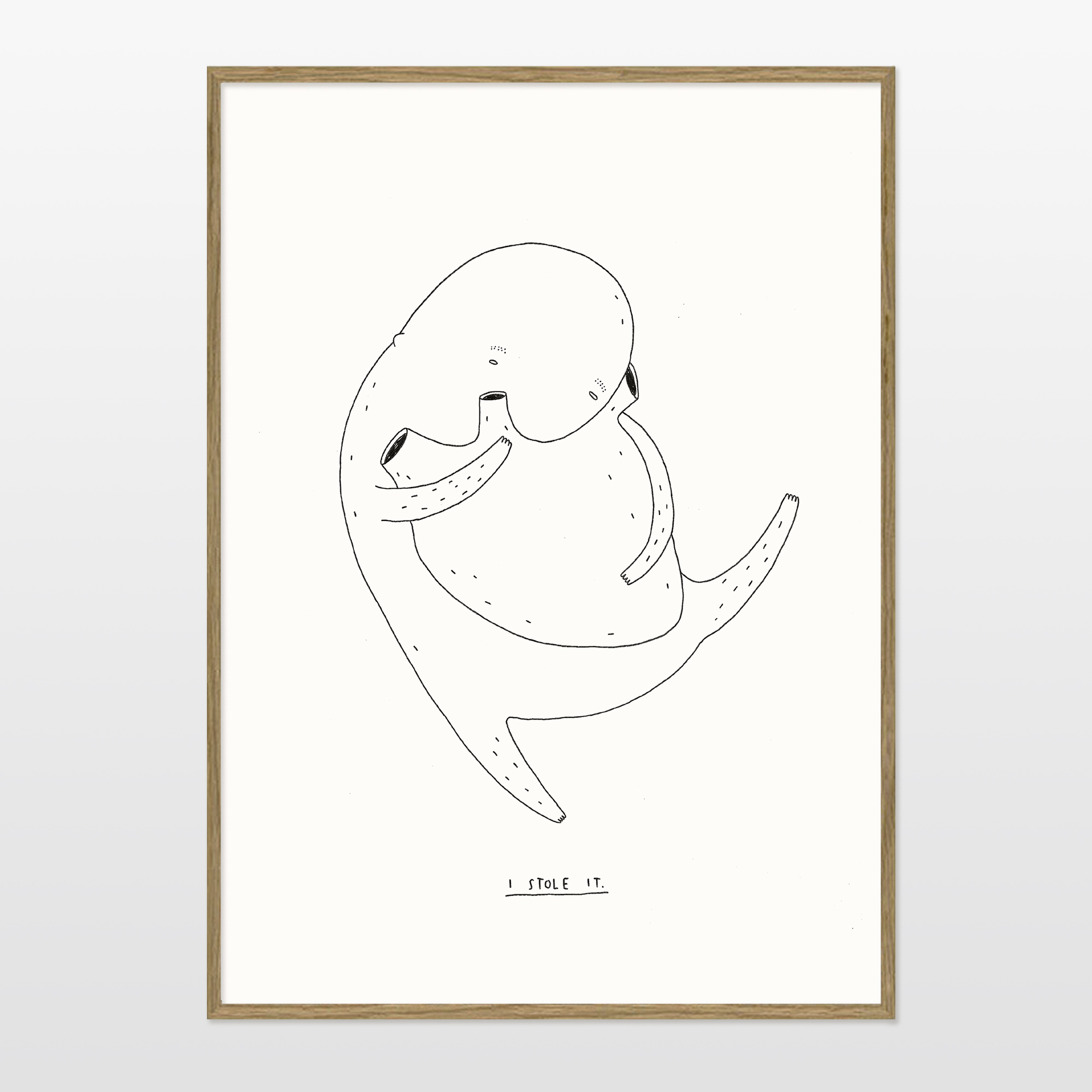posters-prints, giclee-print, family-friendly, figurative, illustrative, minimalistic, cartoons, children, moods, people, black, white, paper, amusing, cute, danish, decorative, design, interior, interior-design, nordic, posters, prints, scandinavien, Buy original high quality art. Paintings, drawings, limited edition prints & posters by talented artists.