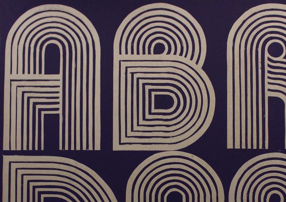 ABRACADABRA linocut- detail