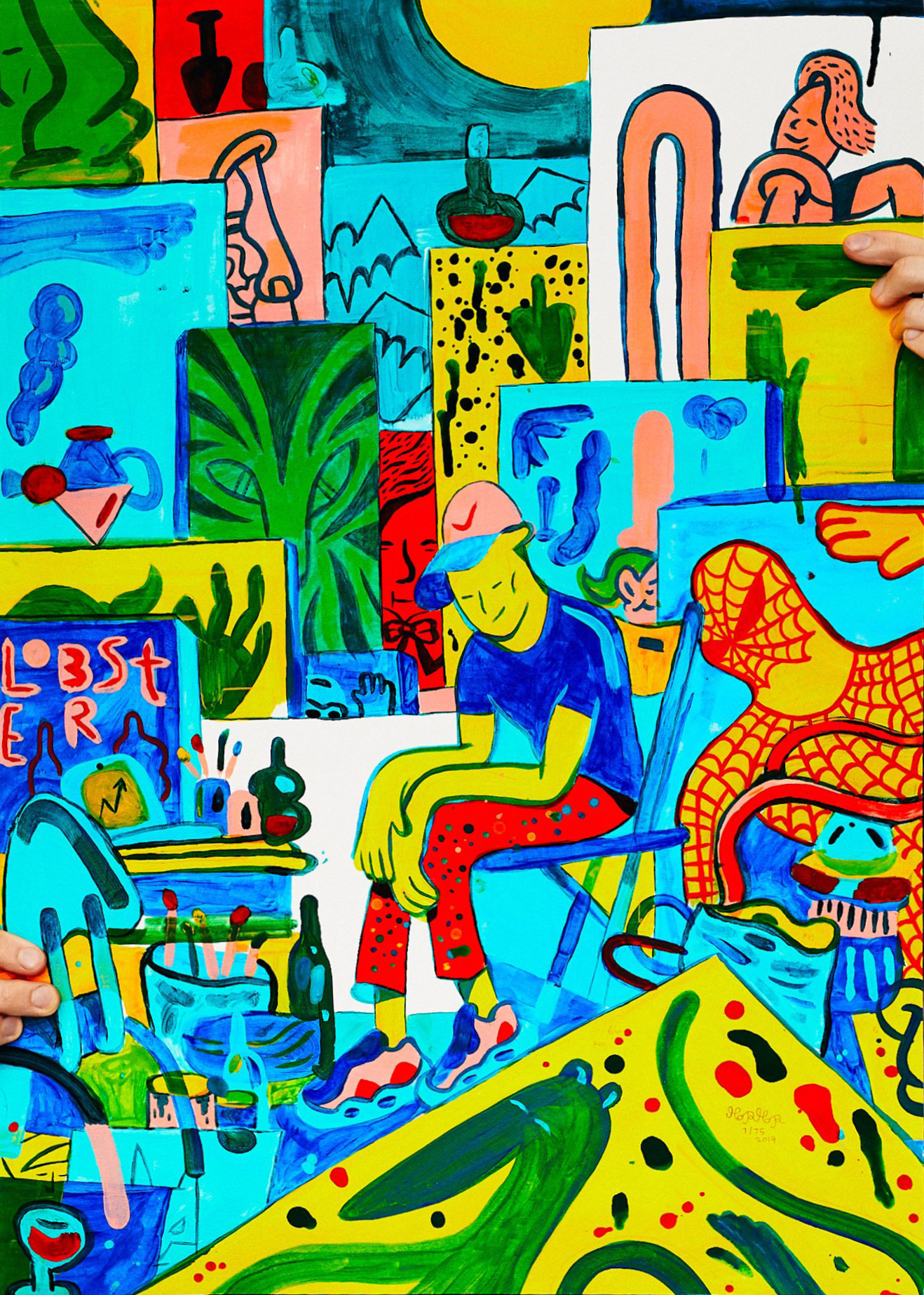 posters-prints, giclee-print, figurative, graphical, pop, portraiture, animals, bodies, cartoons, humor, wildlife, blue, green, pink, turquoise, yellow, acrylic, paper, amusing, boys, buildings, cars, danish, interior, interior-design, kids, modern, modern-art, Buy original high quality art. Paintings, drawings, limited edition prints & posters by talented artists.