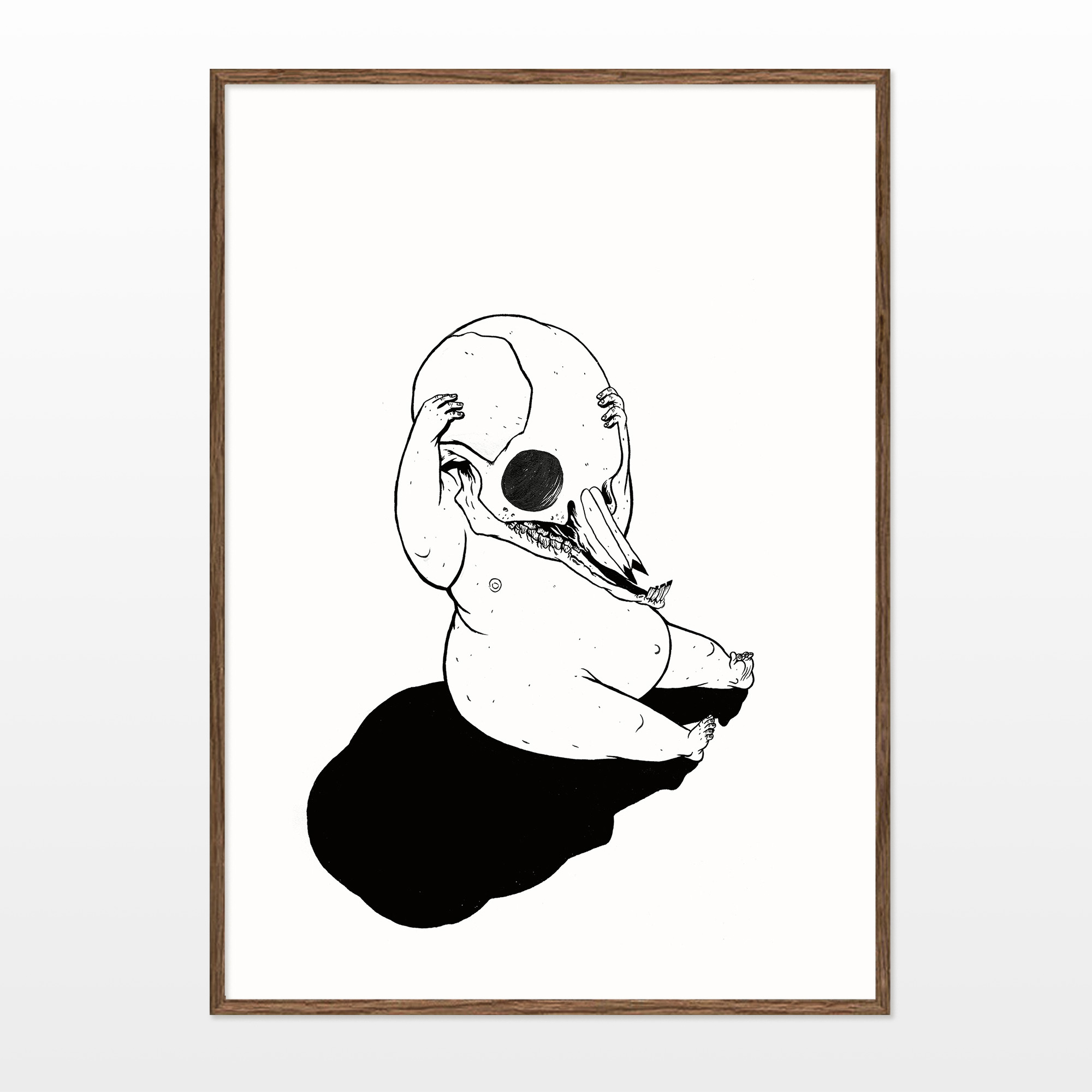 posters-prints, giclee-print, illustrative, monochrome, bodies, cartoons, children, humor, people, black, white, ink, paper, amusing, black-and-white, contemporary-art, danish, decorative, design, faces, modern, modern-art, nordic, scandinavien, sketch, Buy original high quality art. Paintings, drawings, limited edition prints & posters by talented artists.