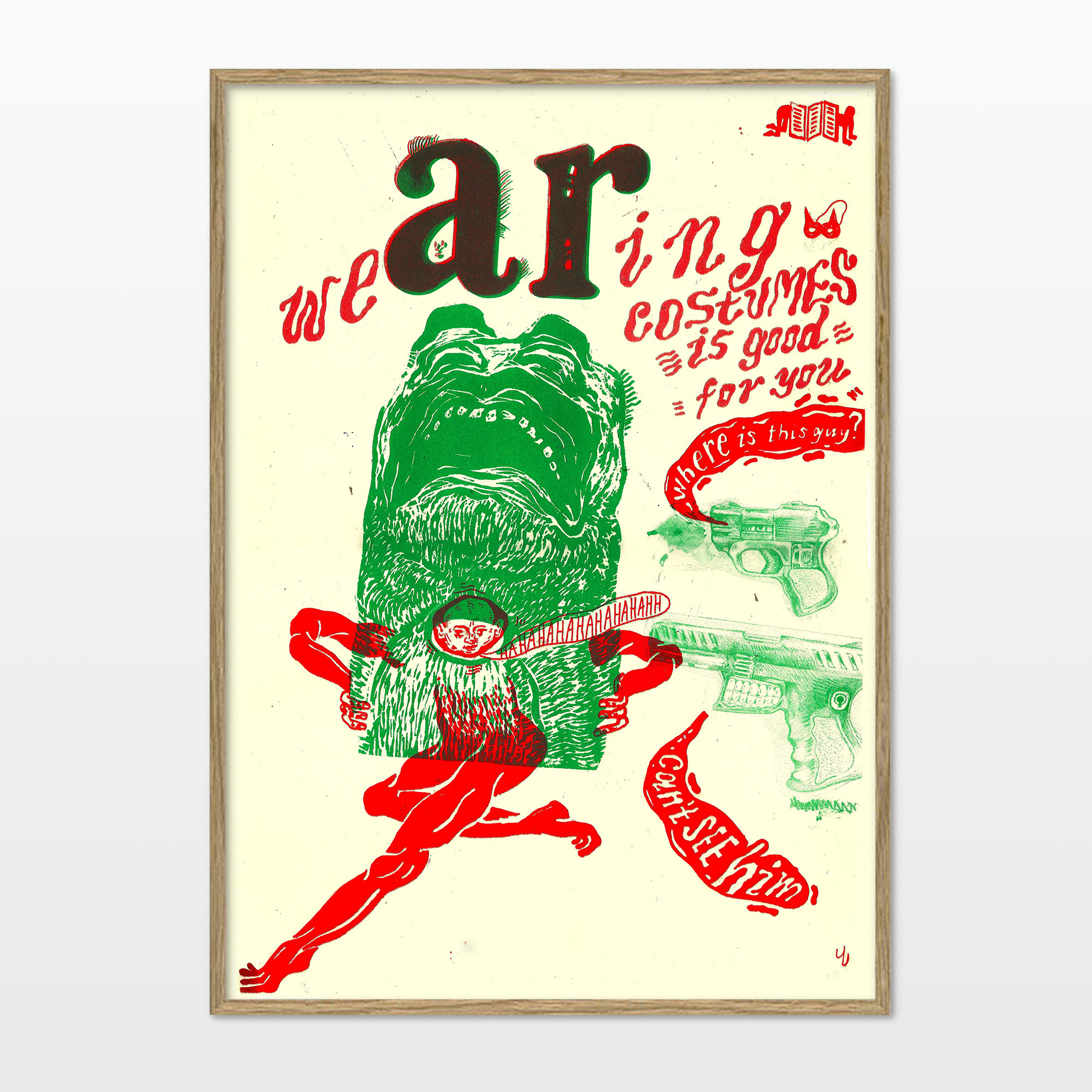 posters-prints, giclee-print, colorful, figurative, graphical, illustrative, pop, animals, bodies, cartoons, people, wildlife, beige, green, red, ink, paper, amusing, contemporary-art, decorative, design, fantasy, interior, interior-design, modern, modern-art, pop-art, posters, prints, weird, Buy original high quality art. Paintings, drawings, limited edition prints & posters by talented artists.