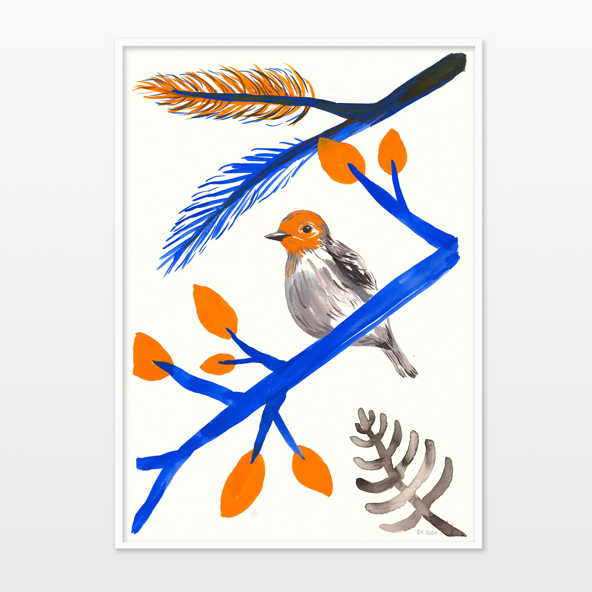 drawings, watercolor-paintings, aesthetic, family-friendly, figurative, graphical, illustrative, animals, botany, nature, wildlife, blue, orange, ink, paper, watercolor, beautiful, birds, contemporary-art, cute, danish, interior, interior-design, modern, modern-art, nordic, posters, prints, trees, Buy original high quality art. Paintings, drawings, limited edition prints & posters by talented artists.