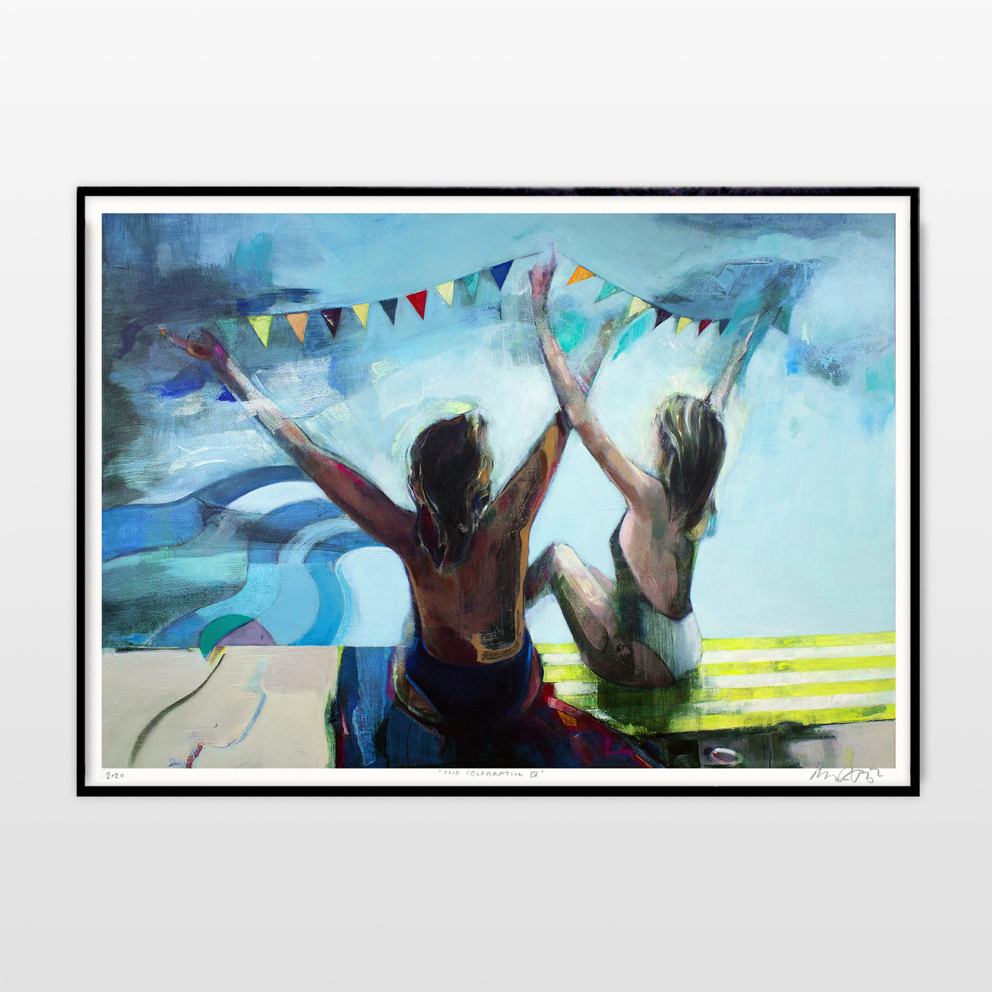 posters-prints, giclee-print, aesthetic, colorful, figurative, graphical, bodies, nature, oceans, people, beige, blue, turquoise, yellow, ink, paper, beach, beautiful, contemporary-art, copenhagen, danish, decorative, design, female, interior, interior-design, modern, modern-art, nordic, posters, romantic, scandinavien, summer, women, Buy original high quality art. Paintings, drawings, limited edition prints & posters by talented artists.