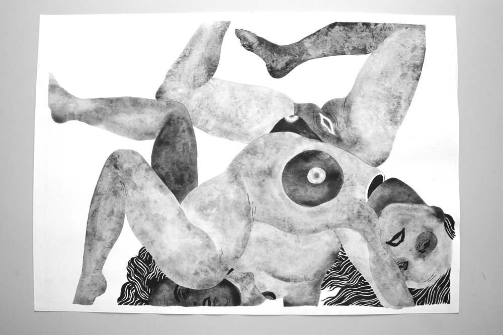 drawings, gouache, watercolors, figurative, monochrome, portraiture, surrealistic, bodies, sexuality, black, grey, white, gouache, paper, black-and-white, contemporary-art, copenhagen, design, erotic, interior, interior-design, modern, modern-art, nordic, nude, scandinavien, sexual, Buy original high quality art. Paintings, drawings, limited edition prints & posters by talented artists.