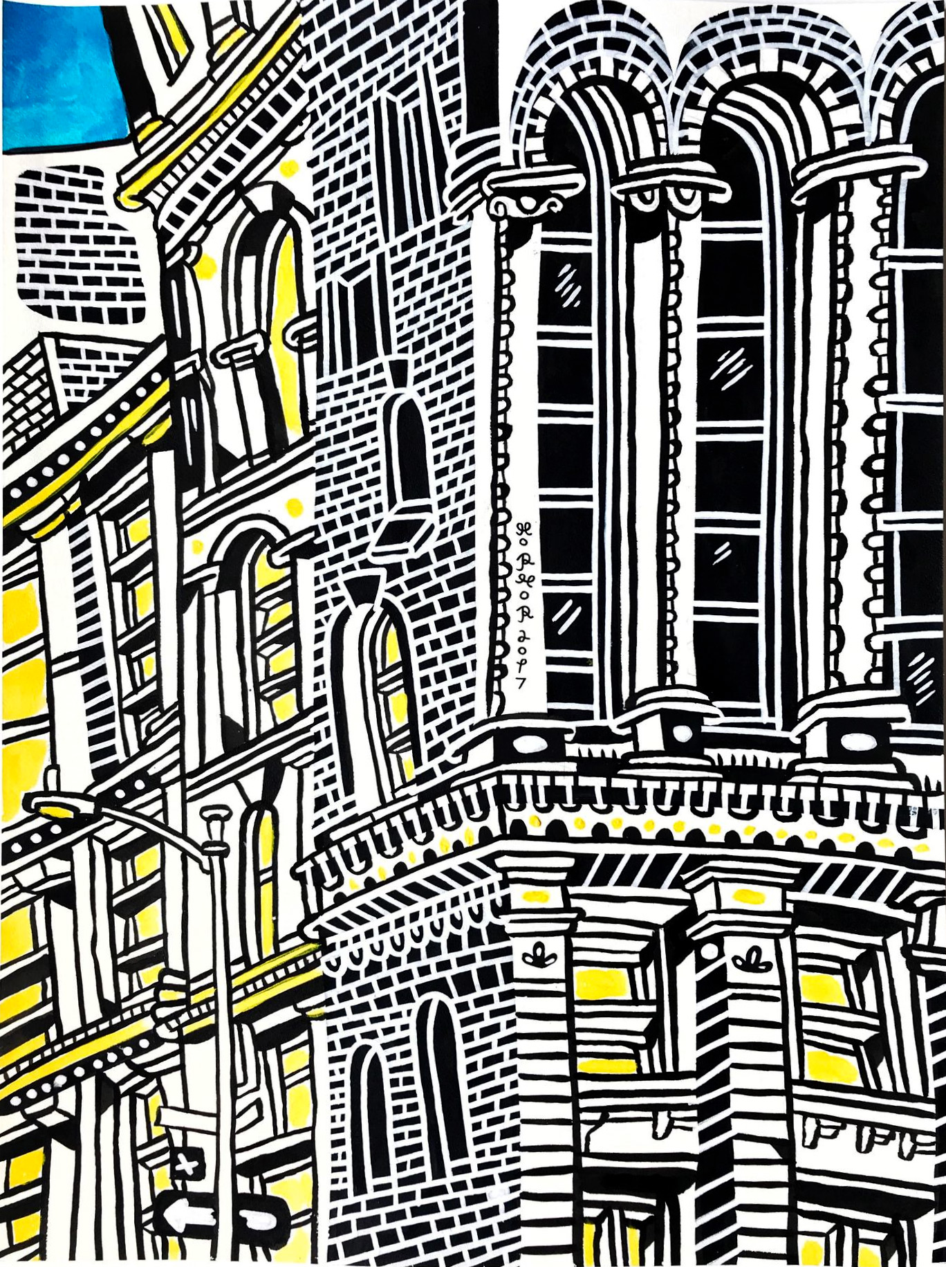 drawings, paintings, colorful, figurative, graphical, illustrative, pop, architecture, cartoons, black, white, yellow, acrylic, ink, paper, marker, architectural, buildings, cities, coffee, contemporary-art, copenhagen, danish, decorative, design, houses, interior, interior-design, modern, modern-art, nordic, pop-art, posters, scandinavien, Buy original high quality art. Paintings, drawings, limited edition prints & posters by talented artists.