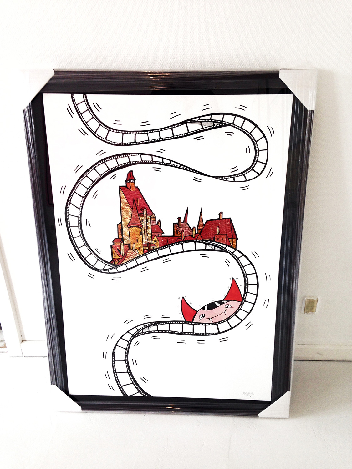 drawings, family-friendly, geometric, pop, architecture, humor, patterns, black, red, white, acrylic, artliner, paper, marker, amusing, buildings, street-art, Buy original high quality art. Paintings, drawings, limited edition prints & posters by talented artists.