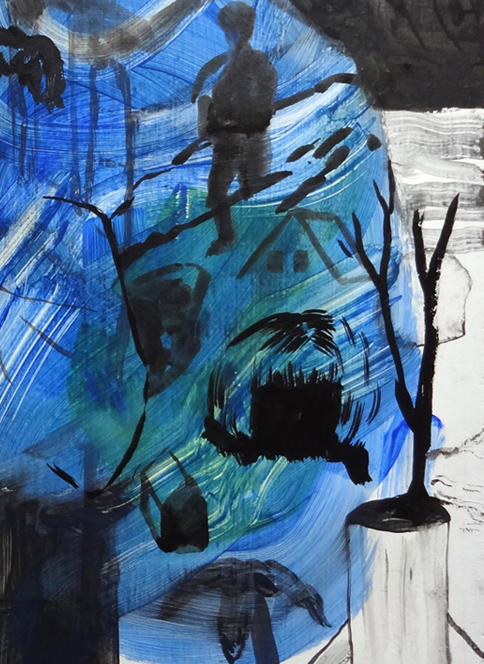 abstract painting with bold colors, online art gallery