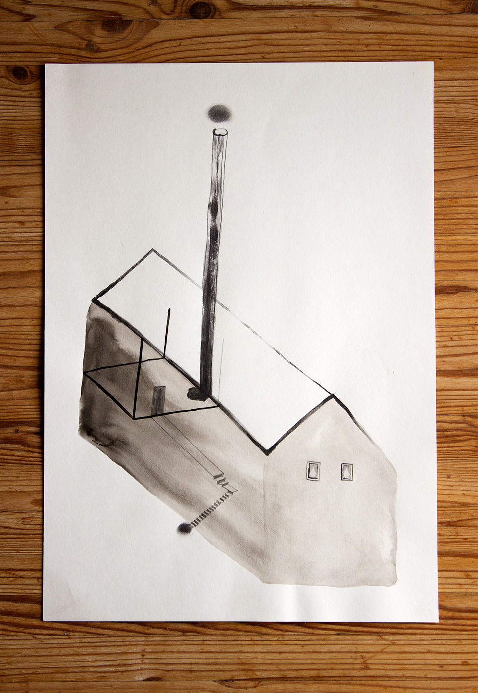 drawings, gouache, watercolors, geometric, monochrome, architecture, black, brown, grey, white, artliner, ink, paper, watercolor, architectural, beautiful, black-and-white, buildings, design, interior, interior-design, pretty, Buy original high quality art. Paintings, drawings, limited edition prints & posters by talented artists.