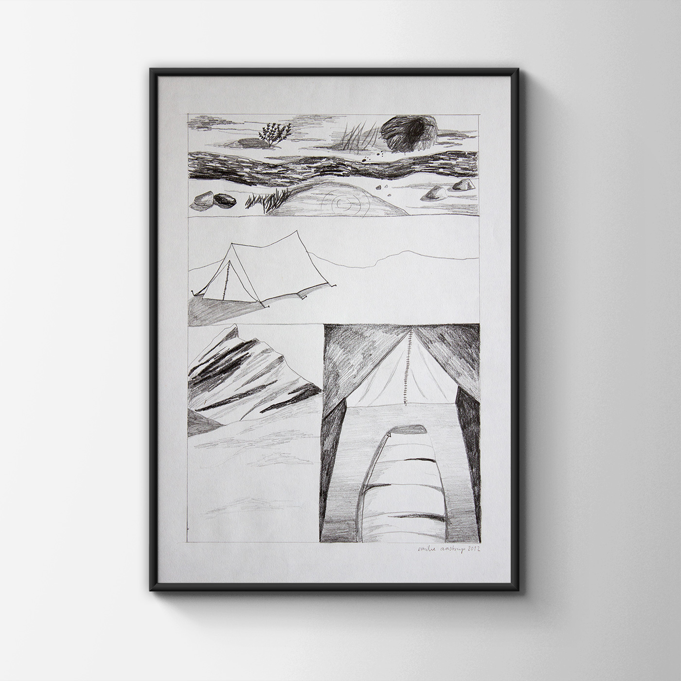 drawings, aesthetic, geometric, landscape, monochrome, architecture, botany, nature, black, grey, charcoal, paper, pencils, architectural, interior, interior-design, scenery, Buy original high quality art. Paintings, drawings, limited edition prints & posters by talented artists.