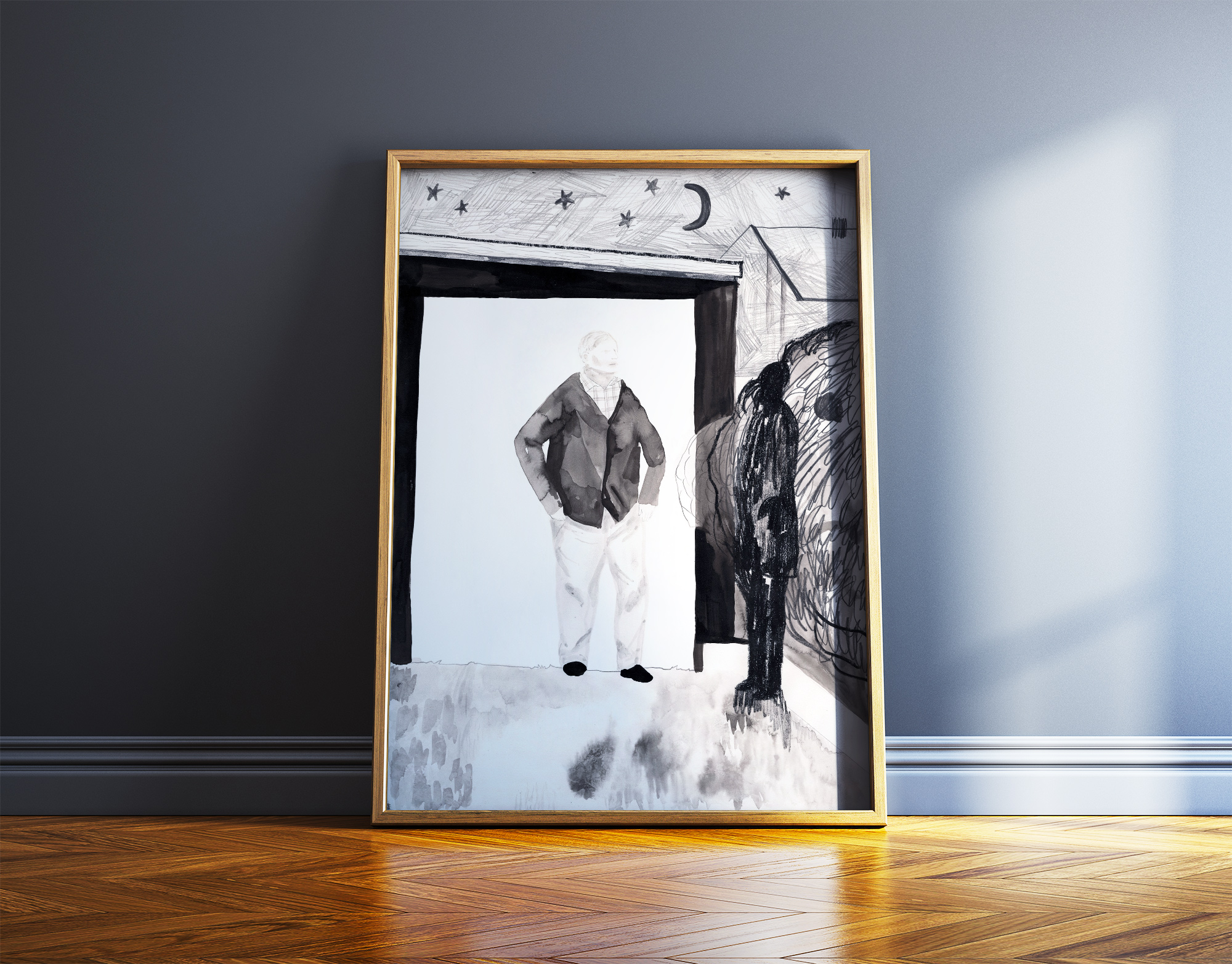 art-prints, gliceé, figurative, illustrative, landscape, monochrome, bodies, people, sky, black, grey, white, ink, paper, beautiful, black-and-white, buildings, contemporary-art, copenhagen, danish, decorative, design, interior, interior-design, modern, modern-art, nordic, posters, prints, scandinavien, sketch, Buy original high quality art. Paintings, drawings, limited edition prints & posters by talented artists.