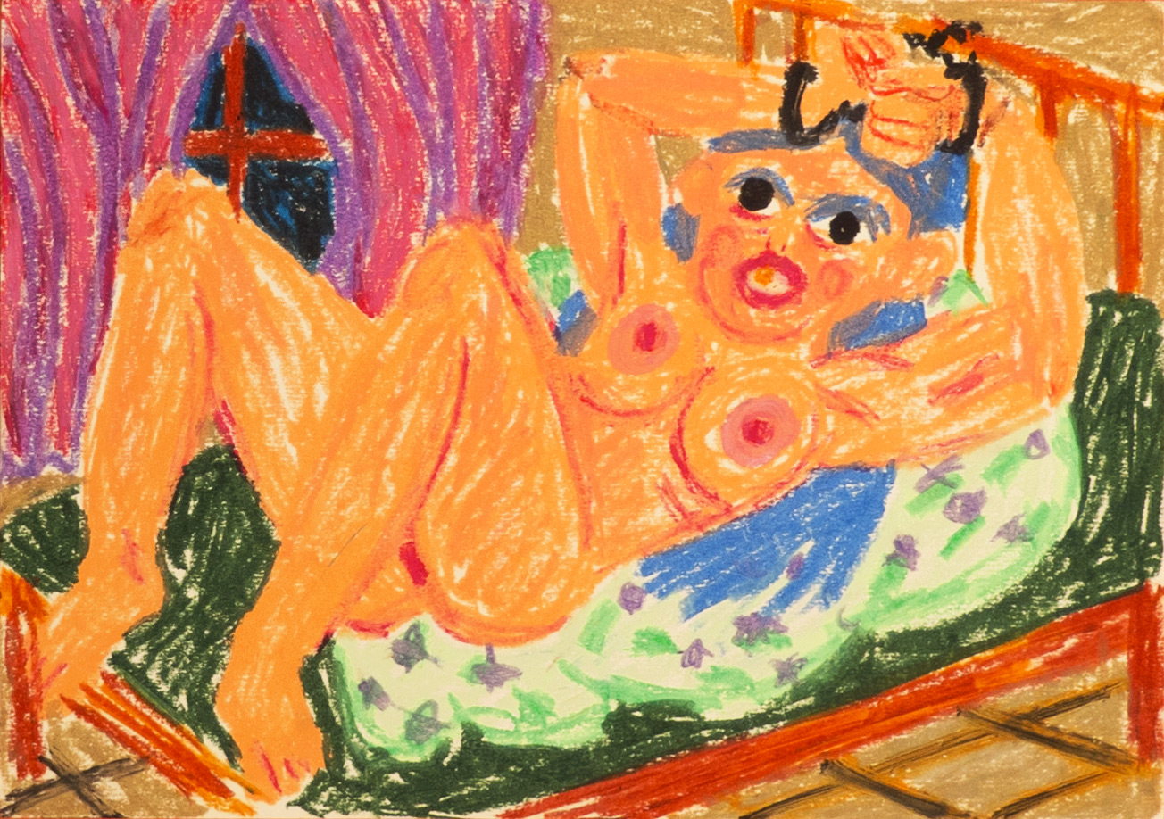 drawings, colorful, figurative, illustrative, bodies, humor, moods, religion, sexuality, beige, green, purple, paper, oil, amusing, contemporary-art, danish, erotic, female, feminist, interior, interior-design, modern, modern-art, nordic, nude, scandinavien, weird, Buy original high quality art. Paintings, drawings, limited edition prints & posters by talented artists.