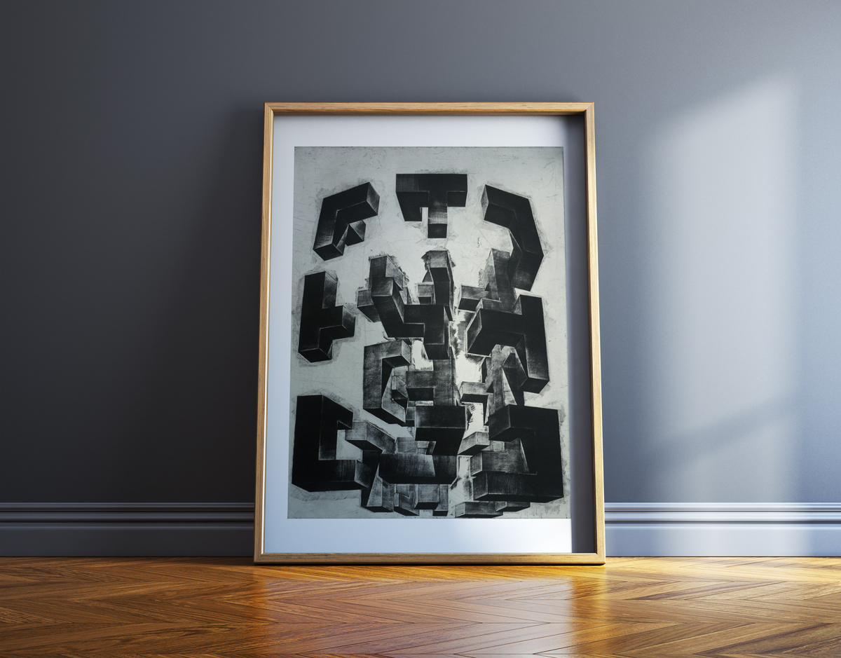 art-prints, engravings, abstract, aesthetic, monochrome, architecture, movement, patterns, black, grey, white, ink, paper, abstract-forms, autumn, decorative, design, interior, interior-design, nordic, scandinavien, Buy original high quality art. Paintings, drawings, limited edition prints & posters by talented artists.
