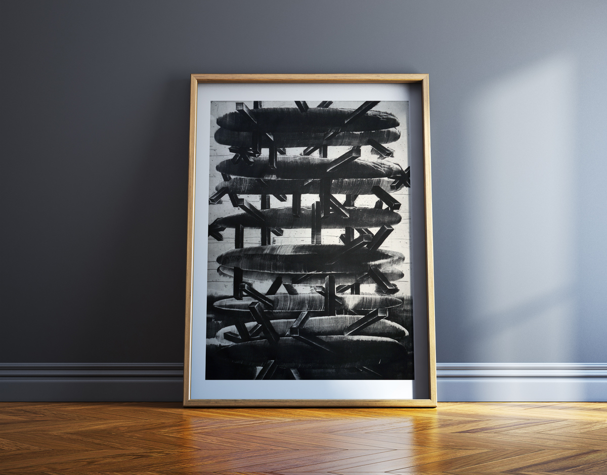art-prints, engravings, abstract, aesthetic, monochrome, movement, patterns, black, grey, white, ink, paper, abstract-forms, danish, decorative, interior, interior-design, nordic, scandinavien, Buy original high quality art. Paintings, drawings, limited edition prints & posters by talented artists.