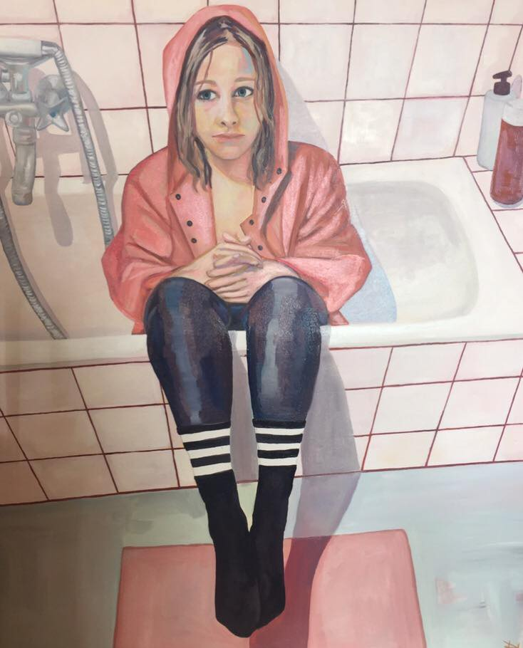 paintings, colorful, figurative, portraiture, bodies, patterns, people, beige, blue, pink, white, acrylic, cotton-canvas, beautiful, contemporary-art, copenhagen, danish, interior, interior-design, modern, modern-art, nordic, romantic, scandinavien, vivid, Buy original high quality art. Paintings, drawings, limited edition prints & posters by talented artists.