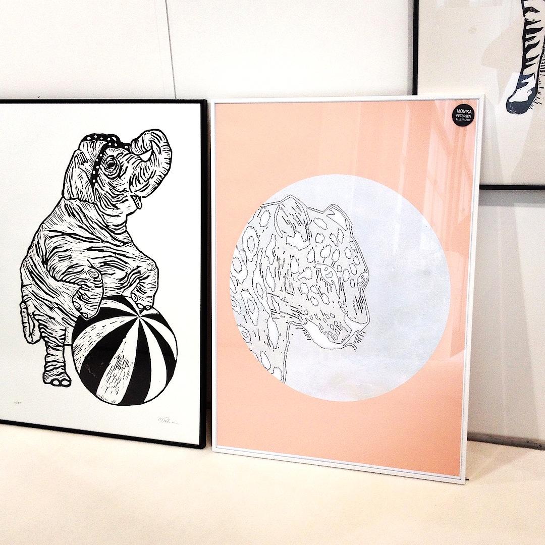 linocut monikapetersen printmaking elephant