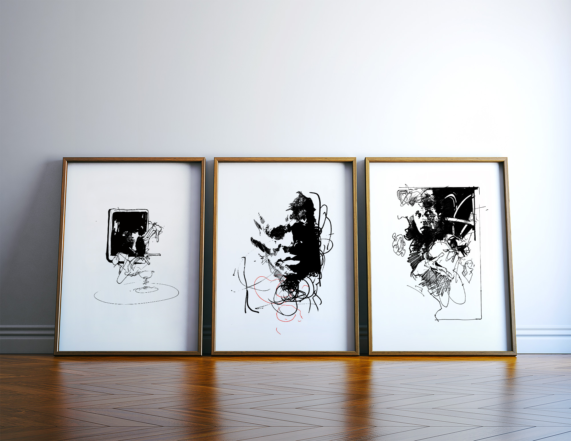 posters-prints, giclee-print, abstract, expressive, figurative, portraiture, patterns, people, black, white, ink, paper, black-and-white, contemporary-art, danish, decorative, design, expressionism, faces, interior, interior-design, modern, modern-art, nordic, posters, prints, scandinavien, Buy original high quality art. Paintings, drawings, limited edition prints & posters by talented artists.