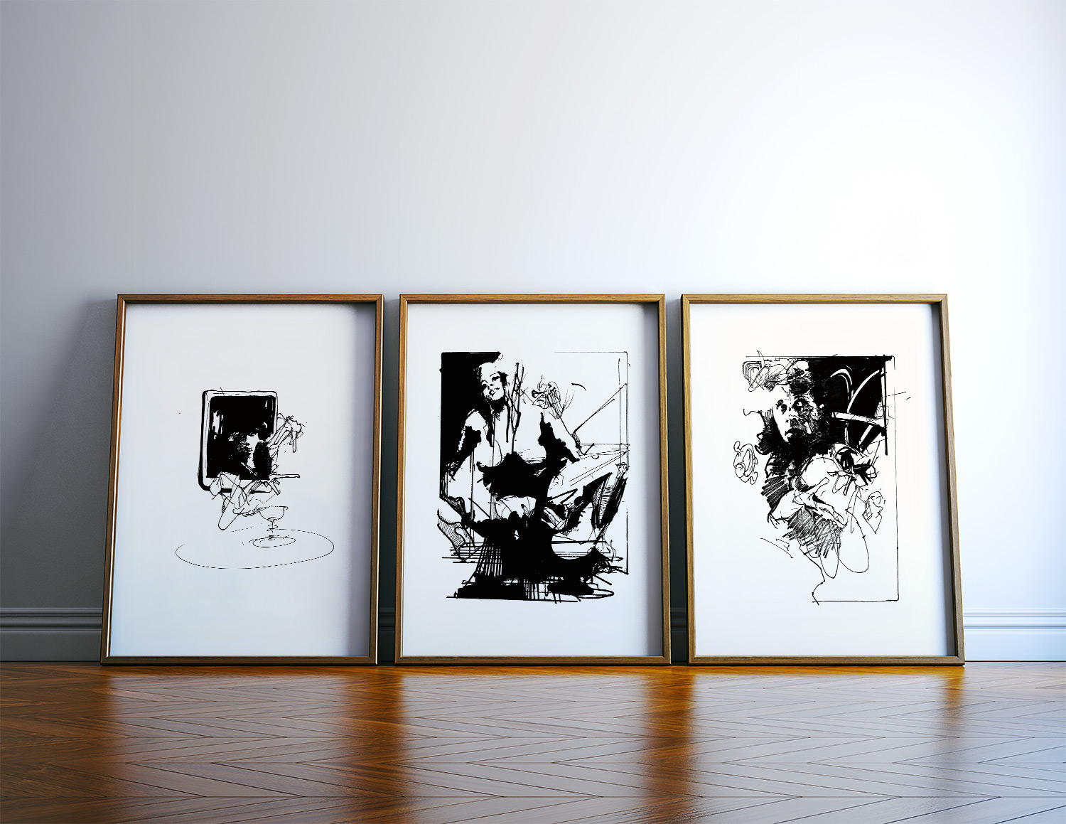 posters-prints, giclee-print, abstract, expressive, monochrome, patterns, people, black, white, ink, paper, black-and-white, contemporary-art, danish, decorative, design, expressionism, faces, interior, interior-design, modern, modern-art, nordic, posters, prints, scandinavien, Buy original high quality art. Paintings, drawings, limited edition prints & posters by talented artists.