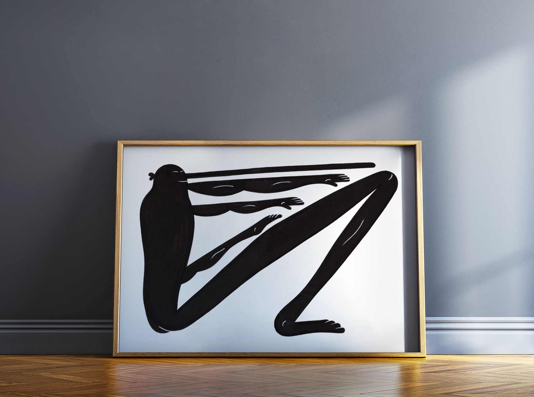 posters-prints, giclee-print, family-friendly, figurative, graphical, illustrative, minimalistic, cartoons, humor, movement, people, sport, black, white, ink, paper, amusing, black-and-white, contemporary-art, copenhagen, danish, decorative, design, interior, interior-design, modern, modern-art, nordic, posters, prints, scandinavien, Buy original high quality art. Paintings, drawings, limited edition prints & posters by talented artists.