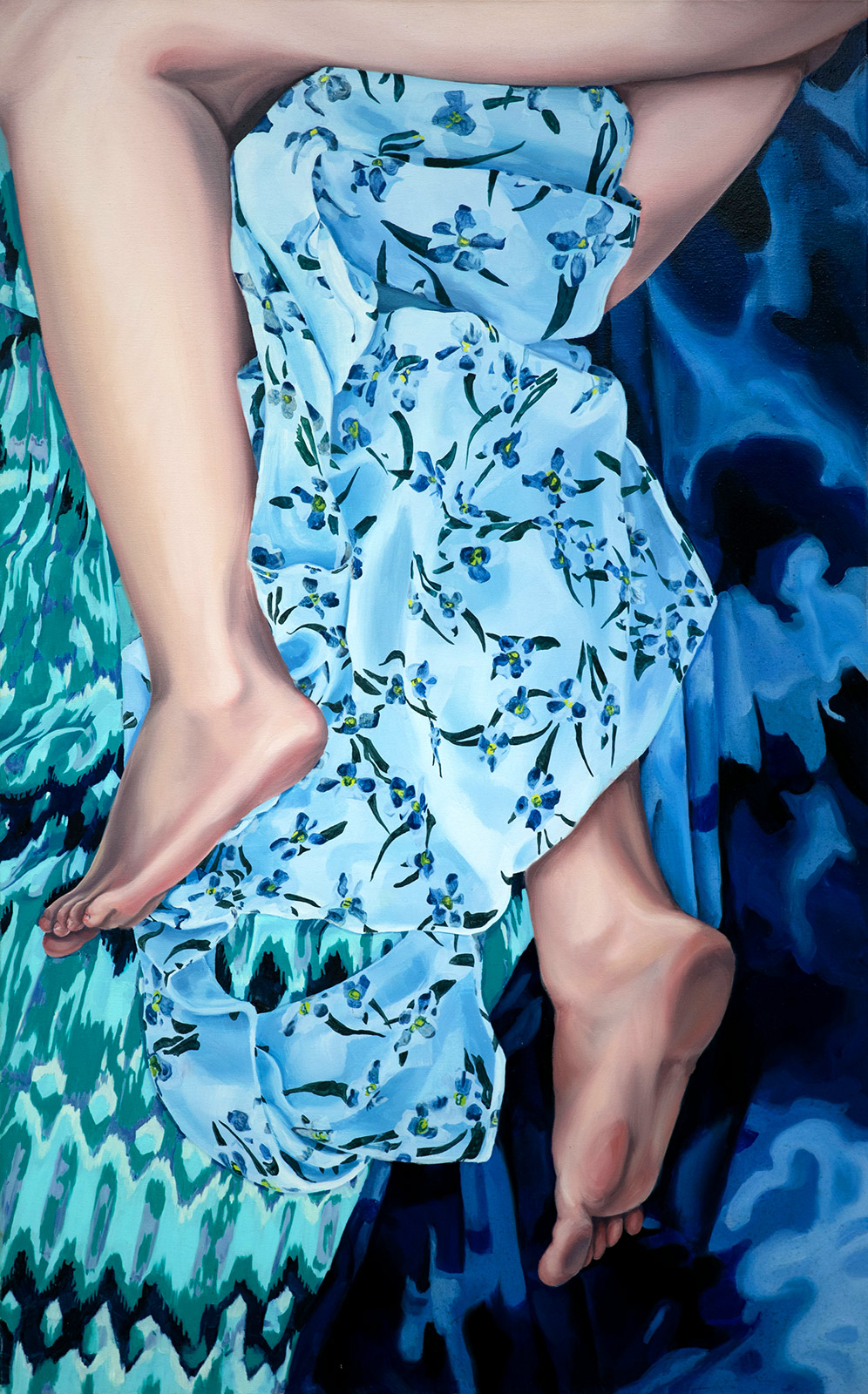 paintings, aesthetic, colorful, figurative, portraiture, bodies, patterns, people, sexuality, blue, turquoise, flax-canvas, oil, beautiful, danish, decorative, design, female, feminist, flowers, interior, interior-design, modern, modern-art, naturalism, nordic, photorealistic, pretty, scandinavien, women, Buy original high quality art. Paintings, drawings, limited edition prints & posters by talented artists.