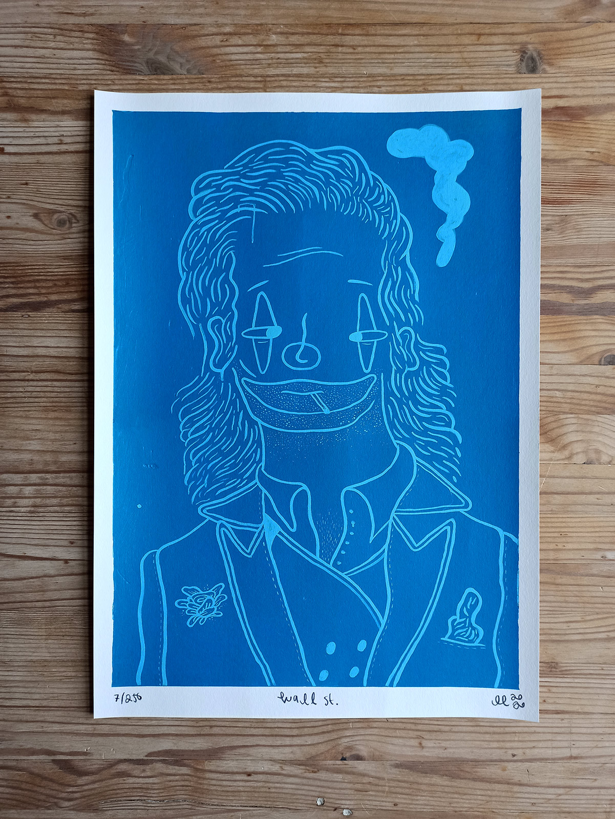 posters-prints, giclee-print, figurative, graphical, illustrative, pop, portraiture, bodies, cartoons, humor, people, blue, turquoise, ink, paper, amusing, cigarettes, contemporary-art, danish, decorative, design, interior, interior-design, modern, modern-art, nordic, posters, prints, scandinavien, Buy original high quality art. Paintings, drawings, limited edition prints & posters by talented artists.