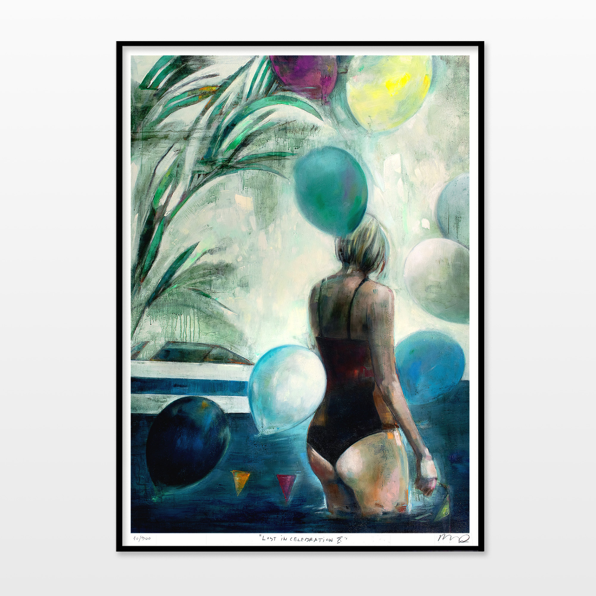 posters-prints, giclee-print, aesthetic, colorful, figurative, graphical, illustrative, landscape, portraiture, bodies, nature, oceans, people, sky, blue, green, turquoise, yellow, ink, paper, beach, beautiful, danish, decorative, design, female, interior, interior-design, nordic, posters, pretty, scandinavien, sea, summer, women, Buy original high quality art. Paintings, drawings, limited edition prints & posters by talented artists.