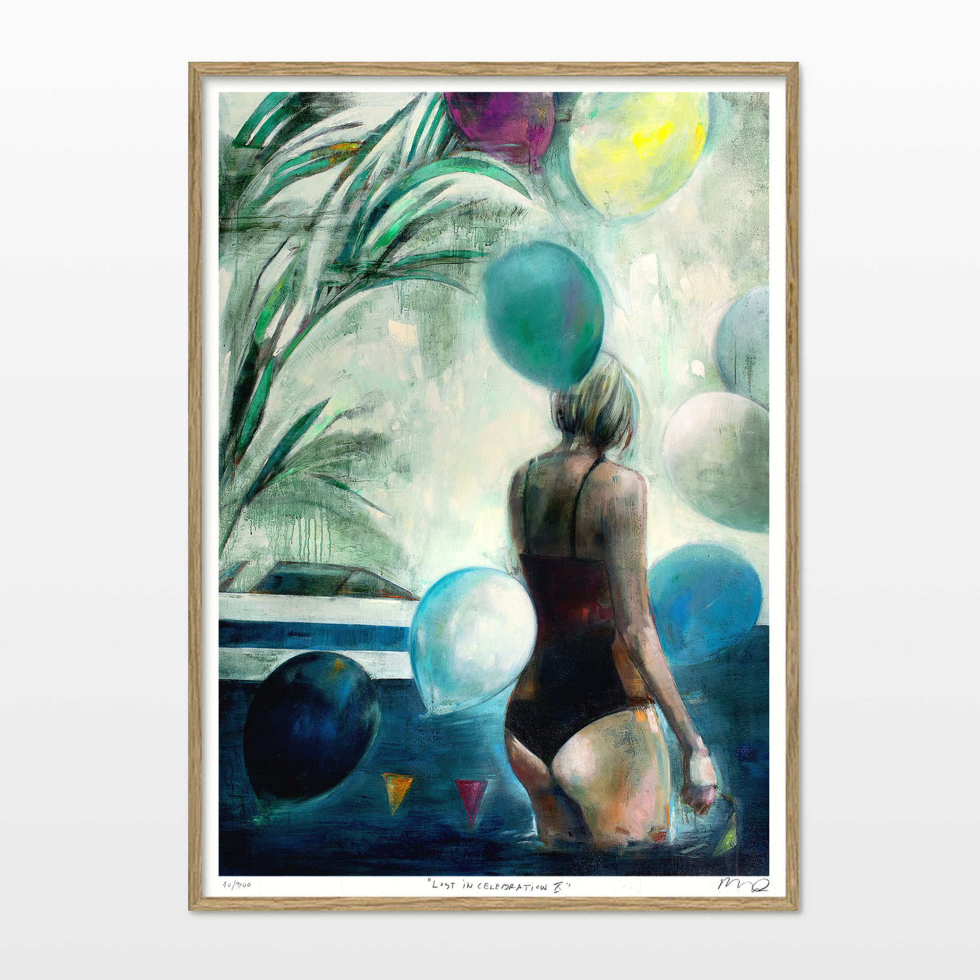 posters-prints, giclee-print, aesthetic, colorful, figurative, graphical, illustrative, landscape, bodies, botany, nature, oceans, people, blue, green, turquoise, yellow, ink, paper, beach, beautiful, danish, decorative, design, female, flowers, interior, interior-design, nordic, posters, pretty, scandinavien, women, Buy original high quality art. Paintings, drawings, limited edition prints & posters by talented artists.