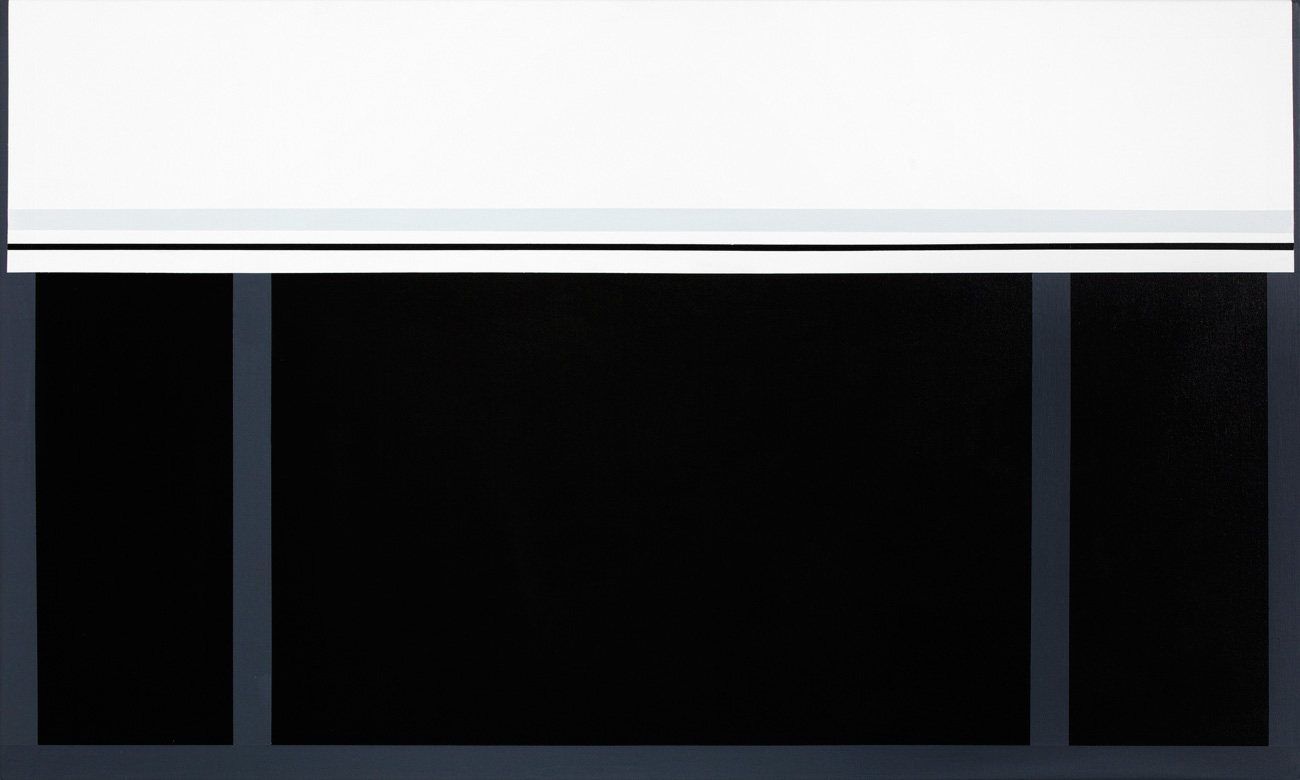 Paintings abstract minimalistic black gray white for Art post minimalisme