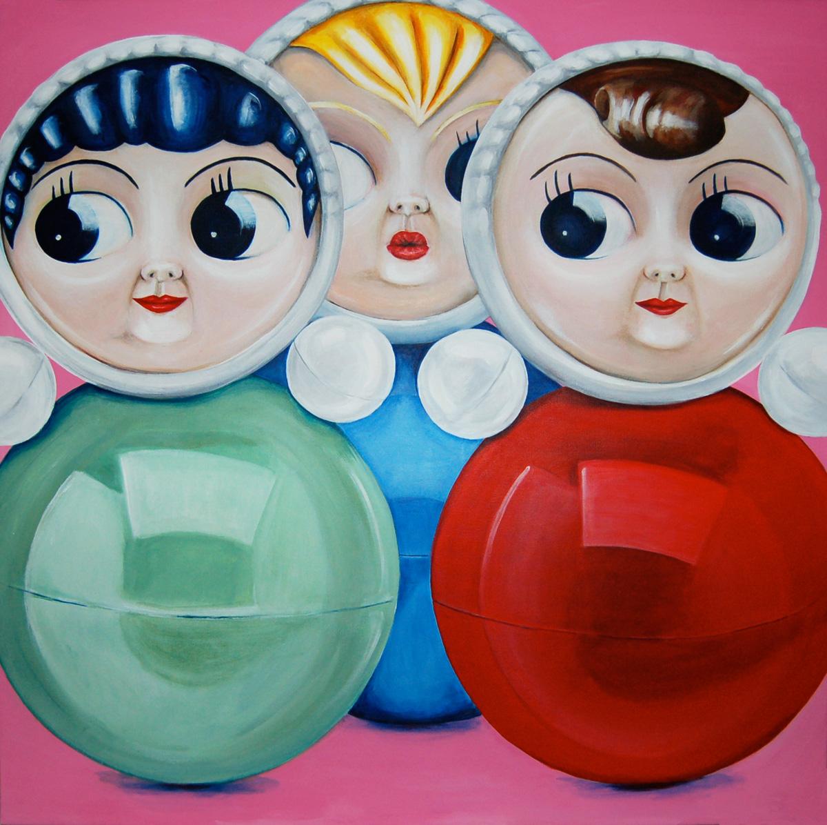 paintings, paintings, dolls, turquoise, blue, red, online galleries, art, pop art, surrealist paintings, figurative talented artists