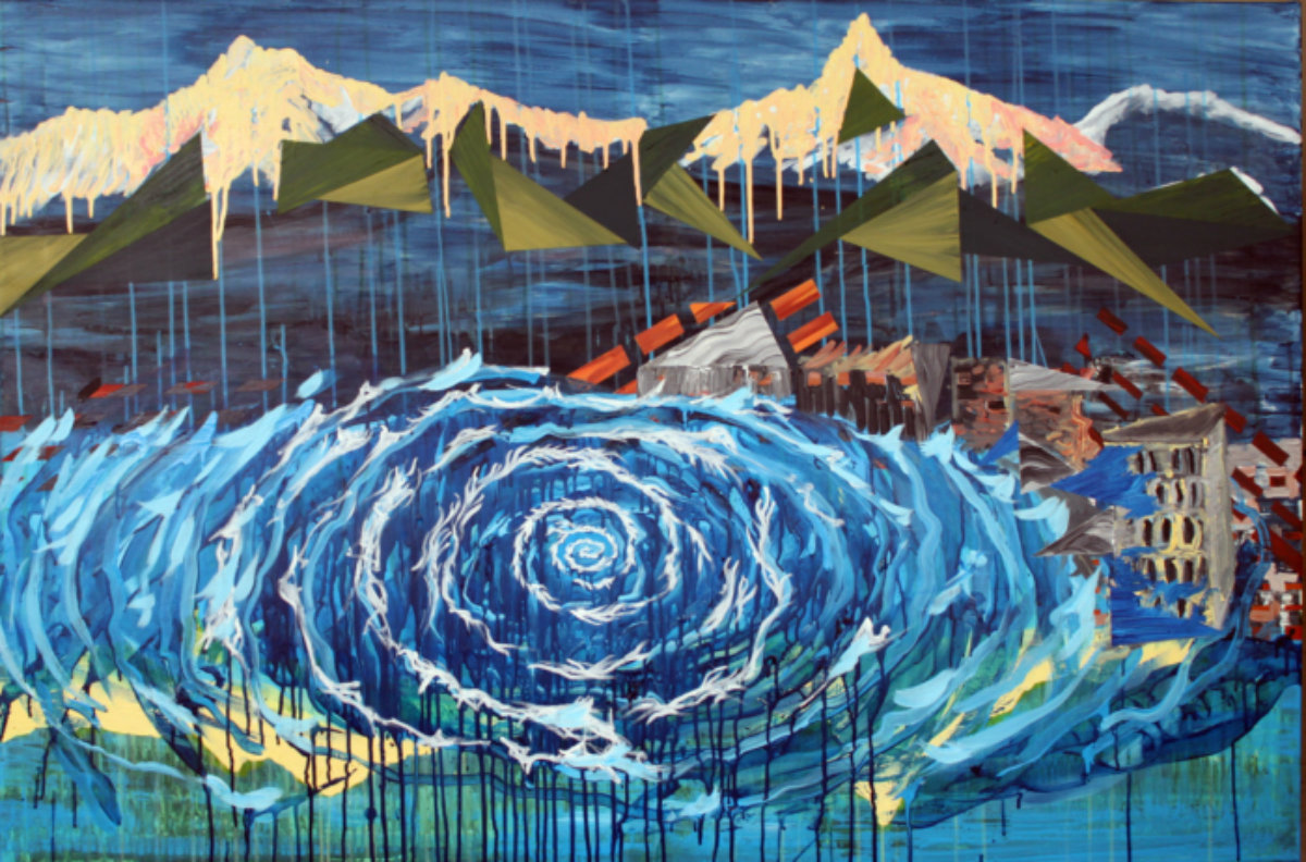 gallery art - waves mountains disaster