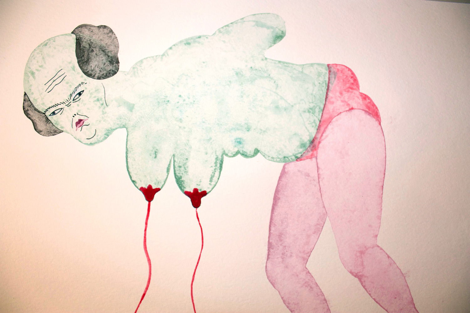 drawings, gouache, watercolors, figurative, portraiture, surrealistic, bodies, moods, sexuality, green, pink, gouache, paper, contemporary-art, decorative, erotic, expressionism, interior, interior-design, modern, modern-art, nude, sexual, Buy original high quality art. Paintings, drawings, limited edition prints & posters by talented artists.