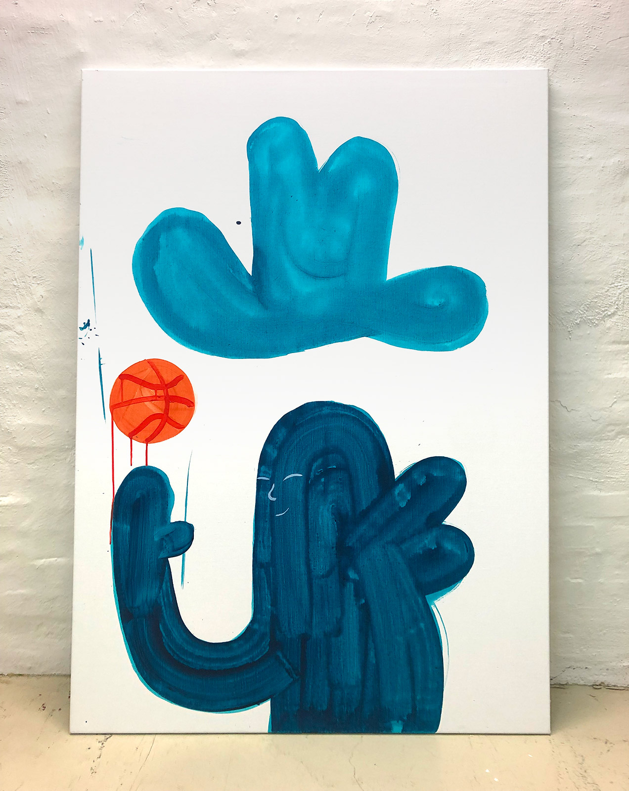 paintings, family-friendly, graphical, illustrative, minimalistic, pop, bodies, people, sport, blue, orange, turquoise, white, acrylic, flax-canvas, abstract-forms, amusing, contemporary-art, copenhagen, danish, decorative, design, hats, interior, interior-design, modern, modern-art, nordic, pop-art, scandinavien, street-art, Buy original high quality art. Paintings, drawings, limited edition prints & posters by talented artists.