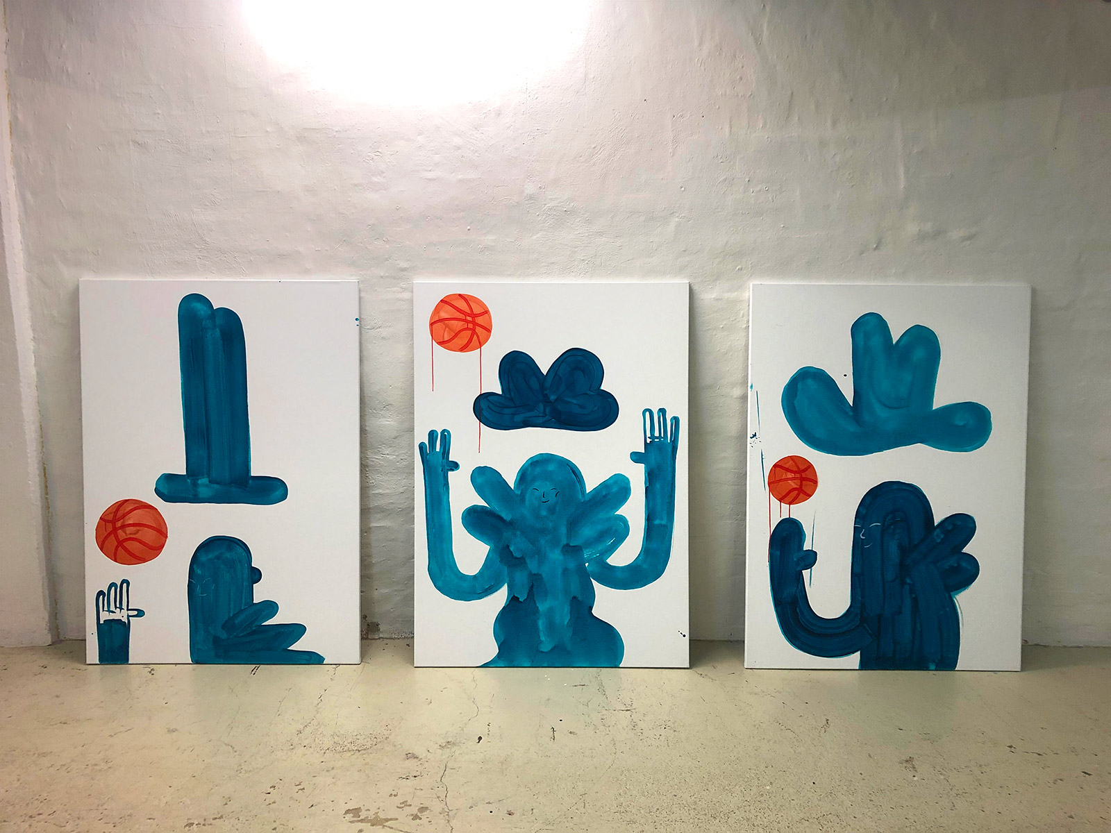 paintings, family-friendly, graphical, illustrative, minimalistic, pop, bodies, cartoons, humor, people, sport, orange, turquoise, white, acrylic, flax-canvas, amusing, contemporary-art, cute, danish, decorative, design, games, hats, interior, interior-design, modern, modern-art, nordic, scandinavien, Buy original high quality art. Paintings, drawings, limited edition prints & posters by talented artists.