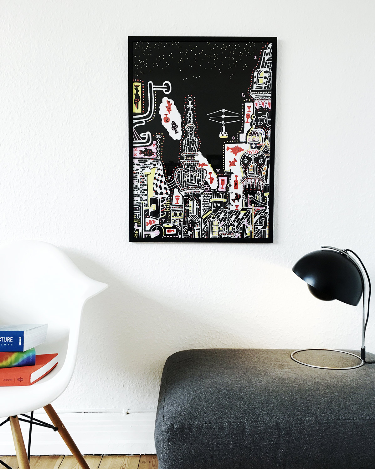 art-prints, giclee, animal, colorful, geometric, pop, architecture, patterns, pets, sky, black, red, white, yellow, ink, paper, architectural, atmosphere, buildings, copenhagen, danish, decorative, design, interior, interior-design, nordic, scandinavien, street-art, vivid, Buy original high quality art. Paintings, drawings, limited edition prints & posters by talented artists.